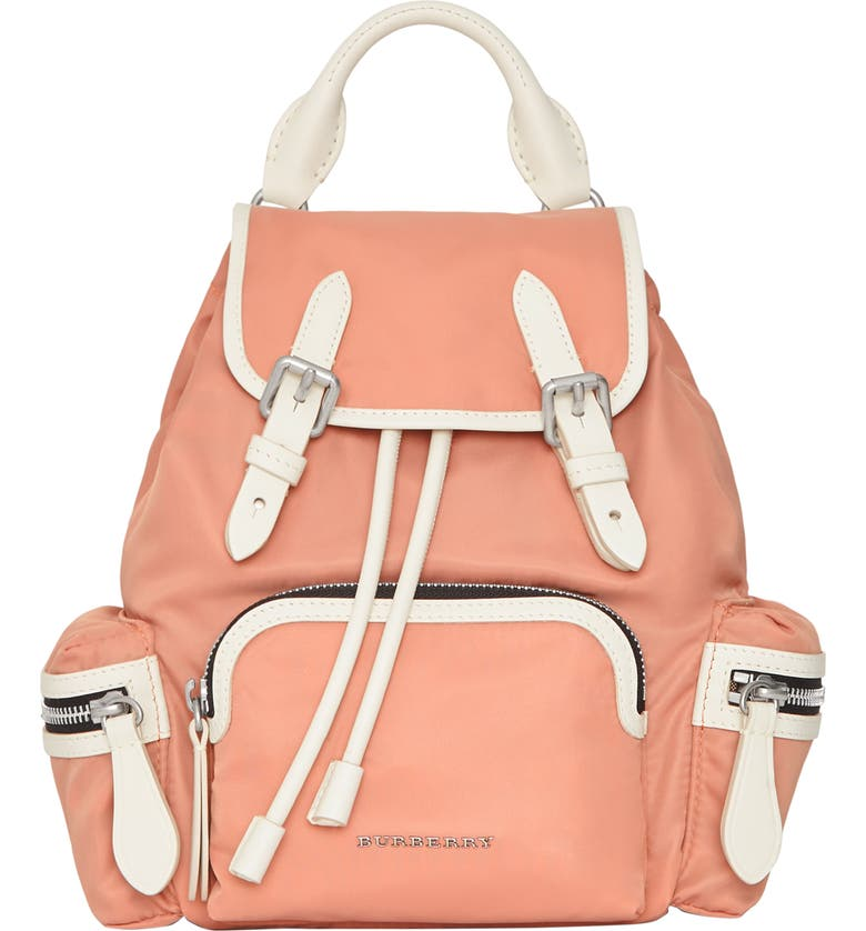 Burberry Leathers SMALL RUCKSACK NYLON BACKPACK - PINK