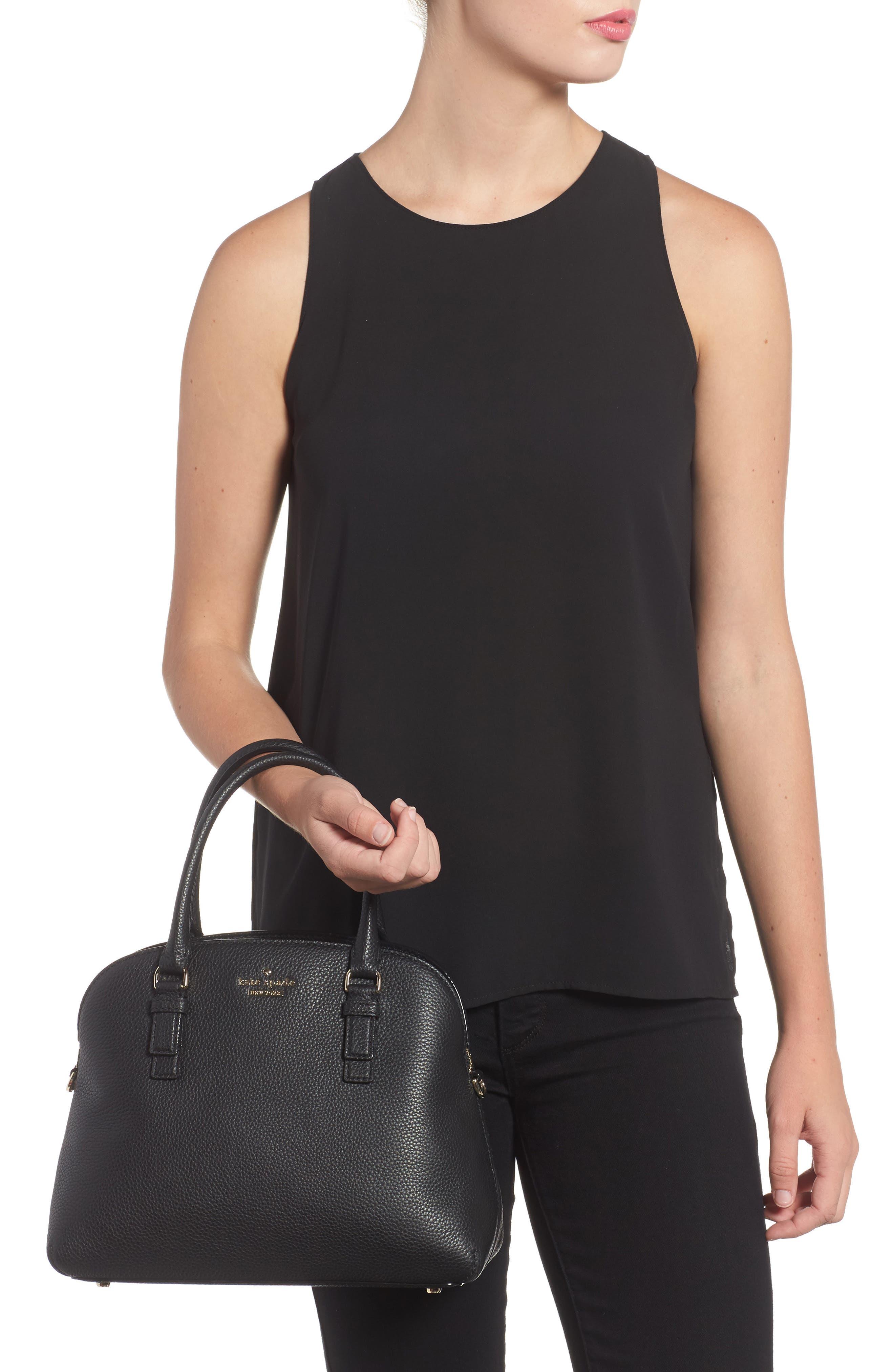 jackson street lottie leather satchel,                             Alternate thumbnail 2, color,                             001