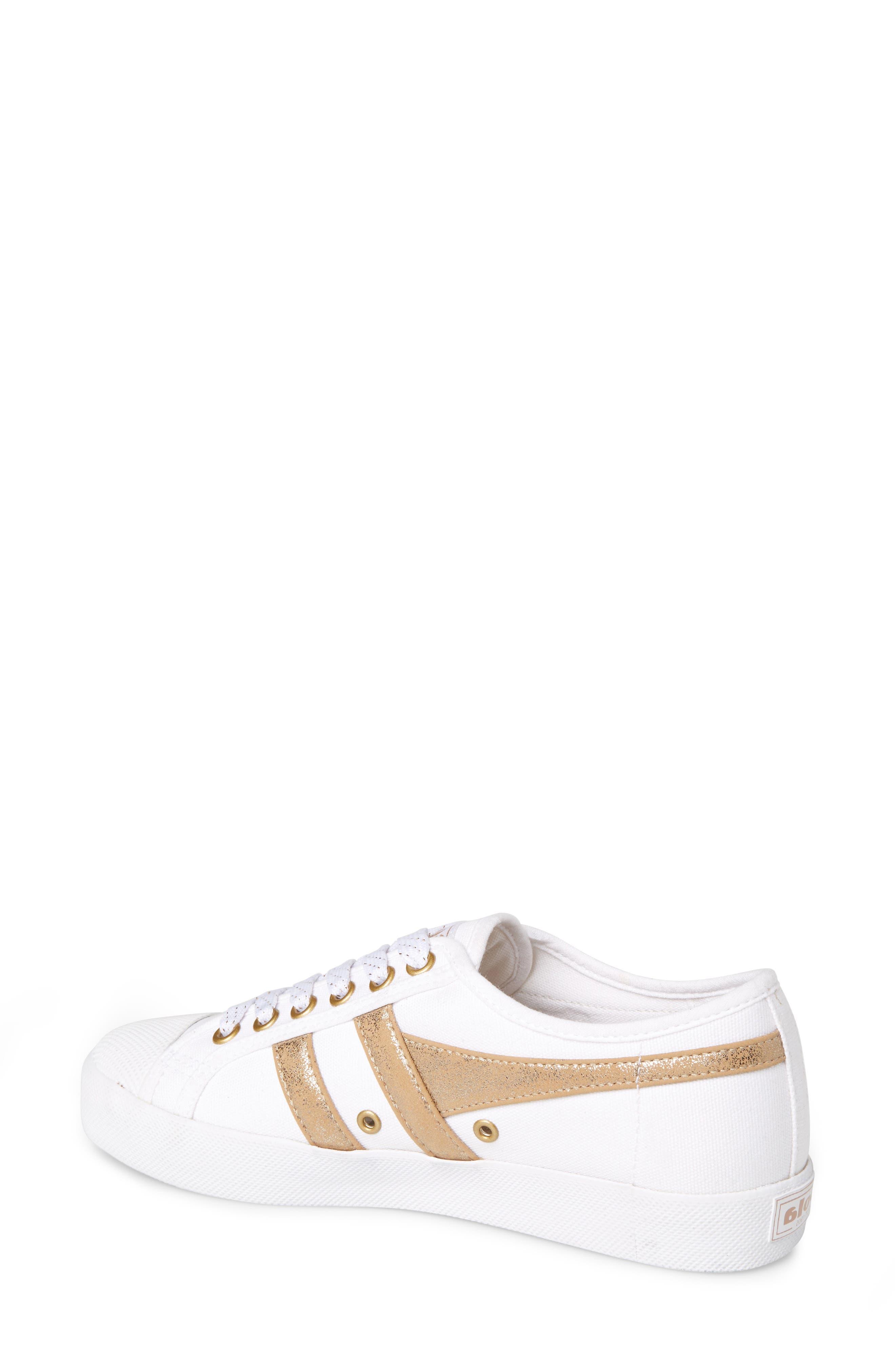 GOLA,                             Coaster Mirror Sneaker,                             Alternate thumbnail 2, color,                             WHITE/ GOLD