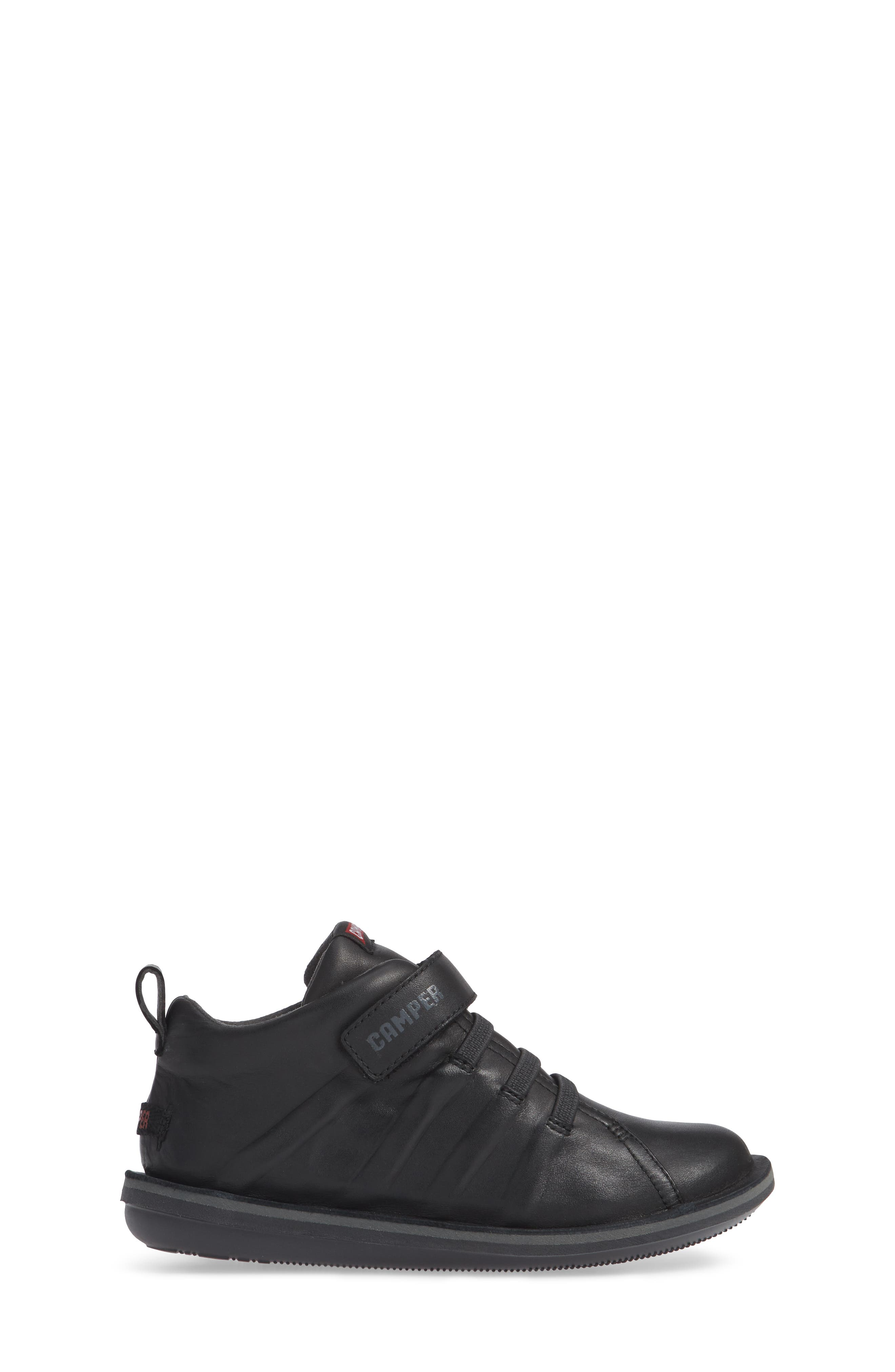 Beetle Water Resistant Sneaker,                             Alternate thumbnail 3, color,                             BLACK