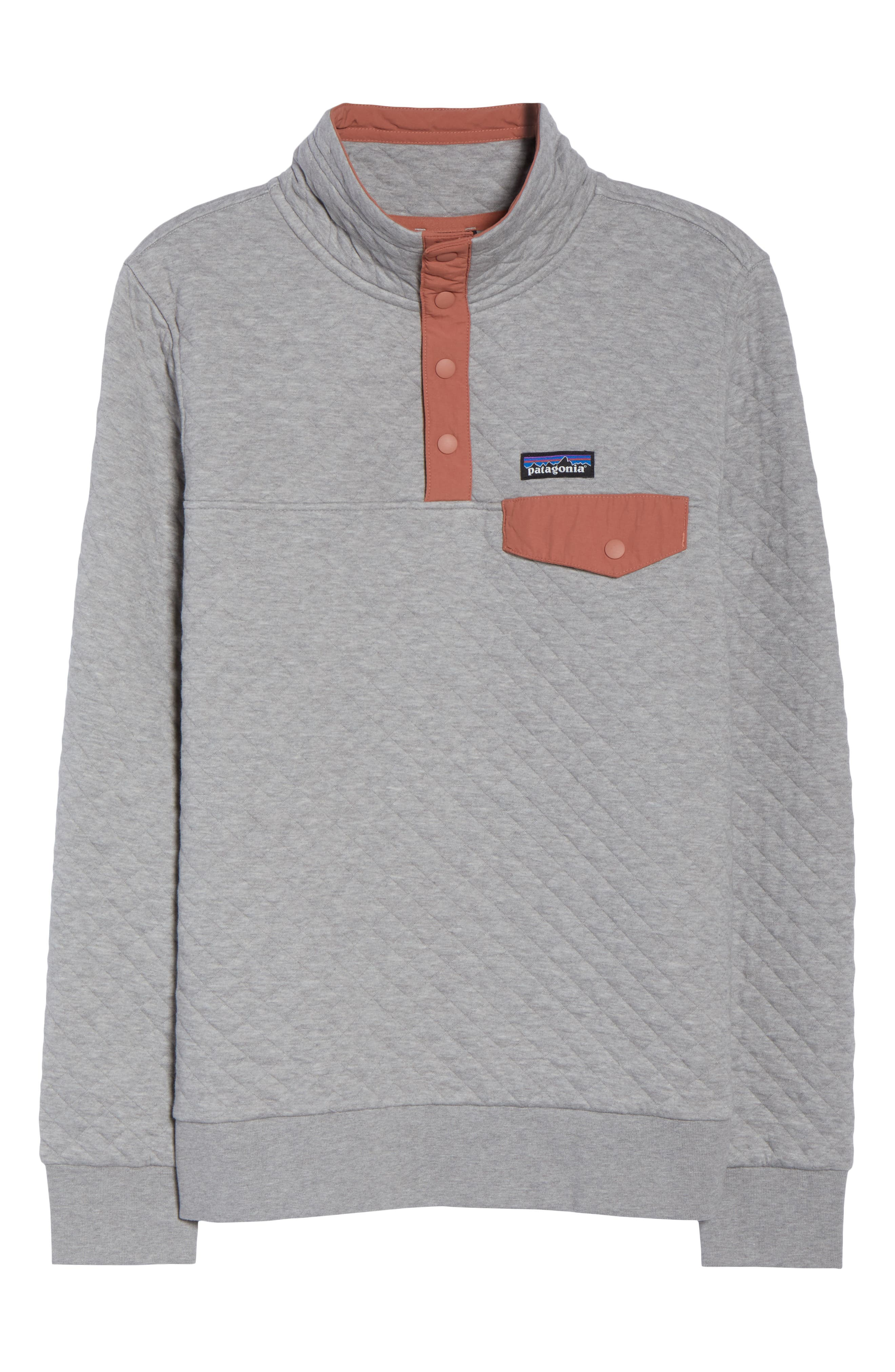 Snap-T<sup>®</sup> Quilted Pullover,                             Alternate thumbnail 7, color,                             DRIFT GREY