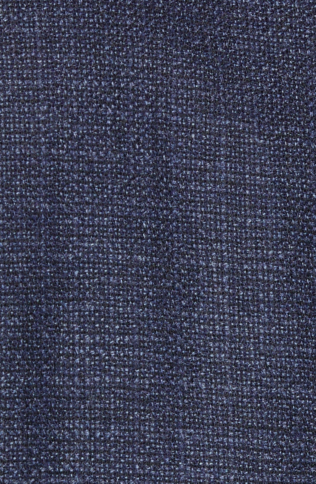 Classic Fit Wool Blend Blazer,                             Alternate thumbnail 6, color,                             NAVY