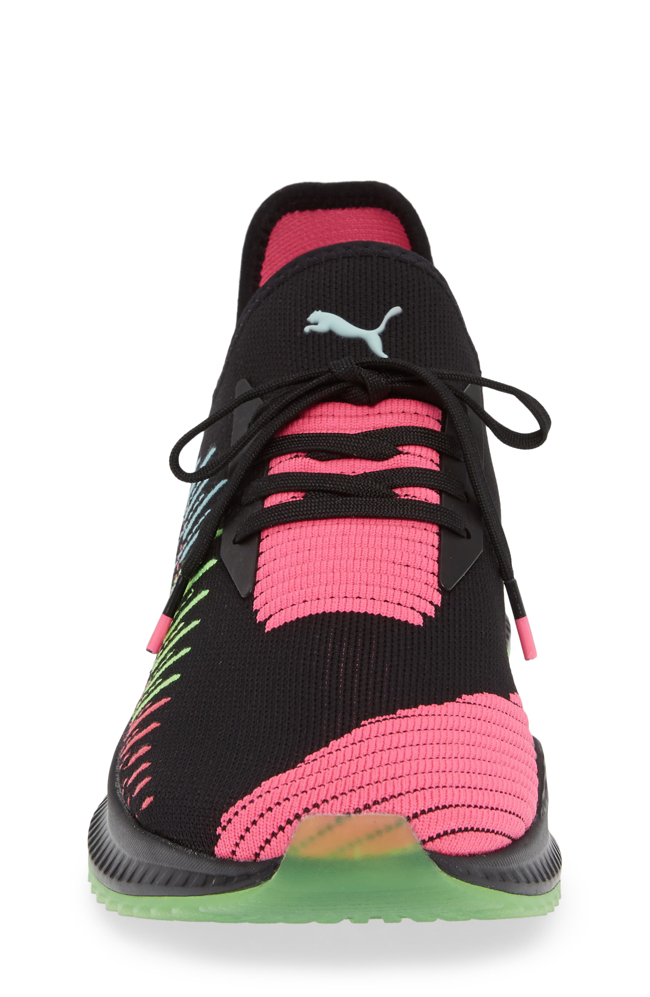 AVID EvoKNIT Sneaker,                             Alternate thumbnail 4, color,                             BLACK/ PINK/ ISLAND PARADISE