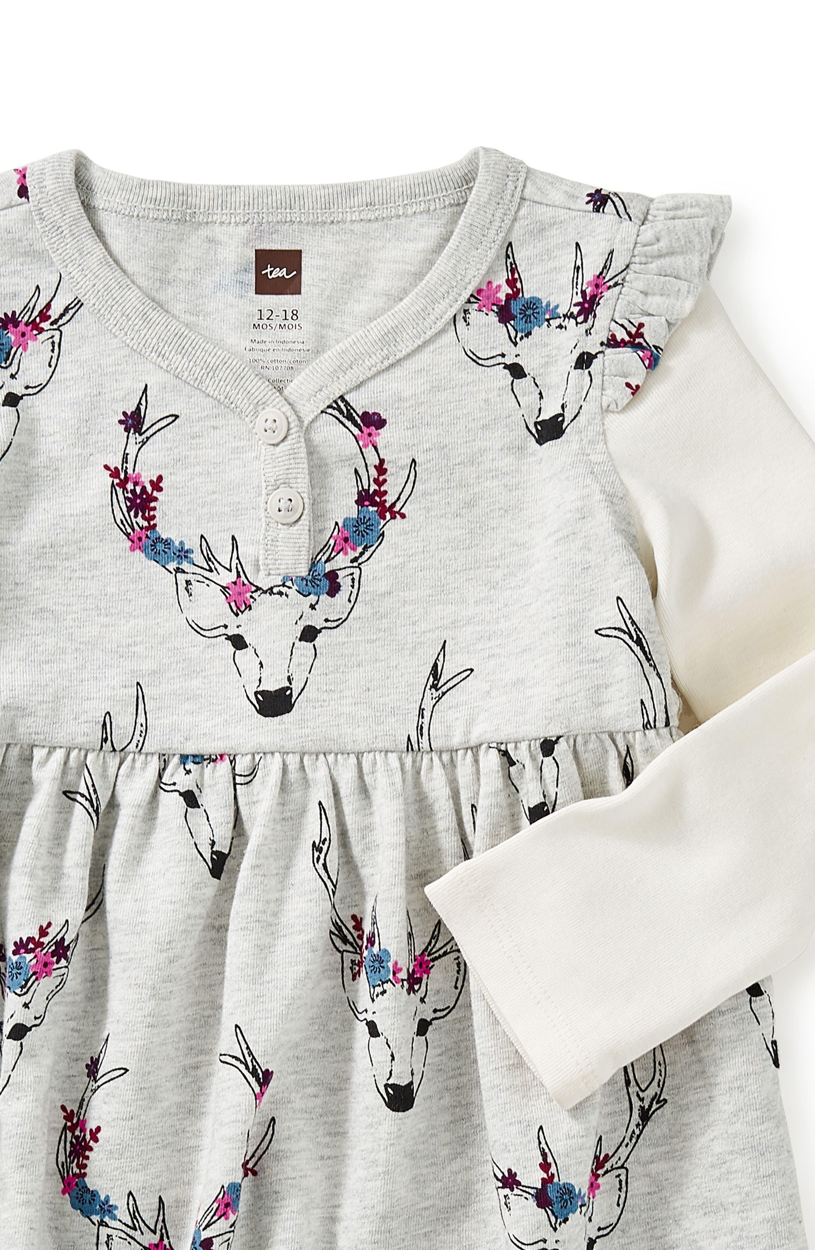 Oh Deer Layered Henley Dress,                             Alternate thumbnail 2, color,                             020