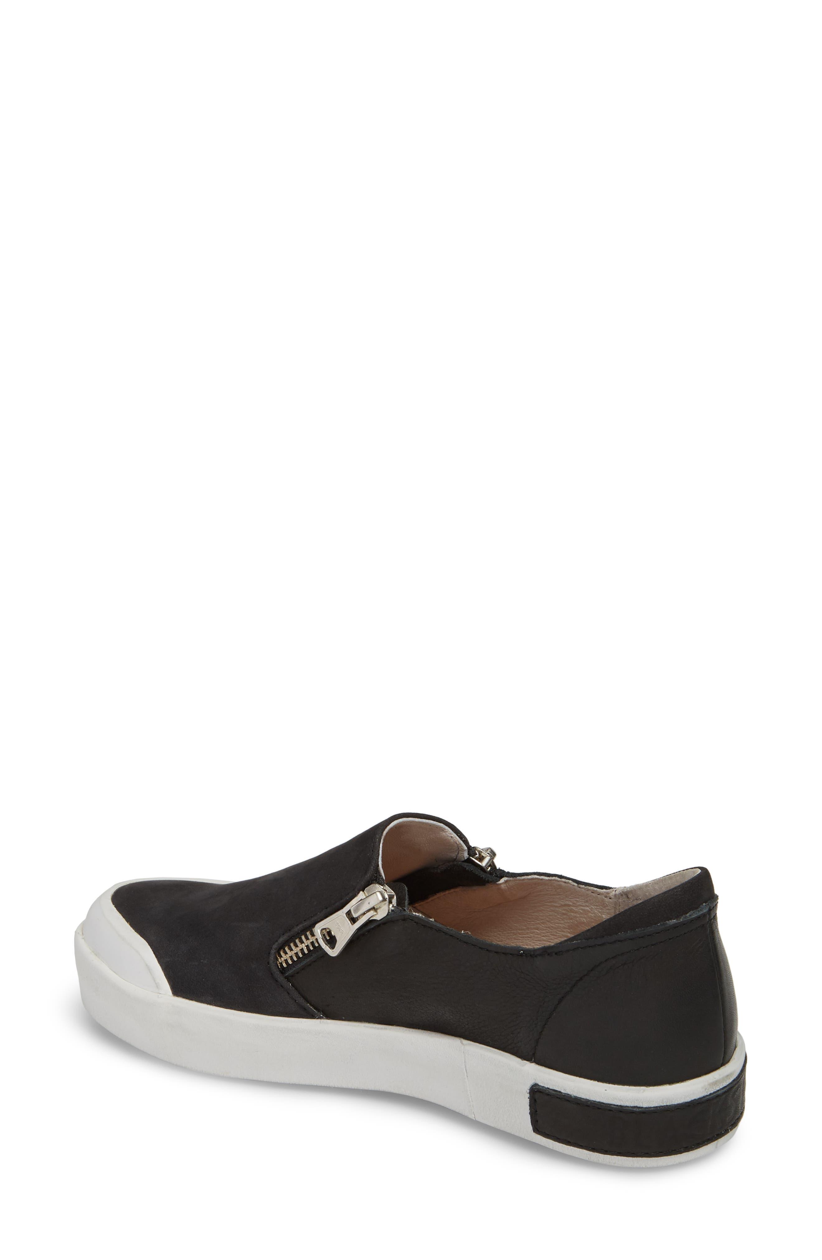 PL82 Slip-On Sneaker,                             Alternate thumbnail 2, color,                             BLACK LEATHER