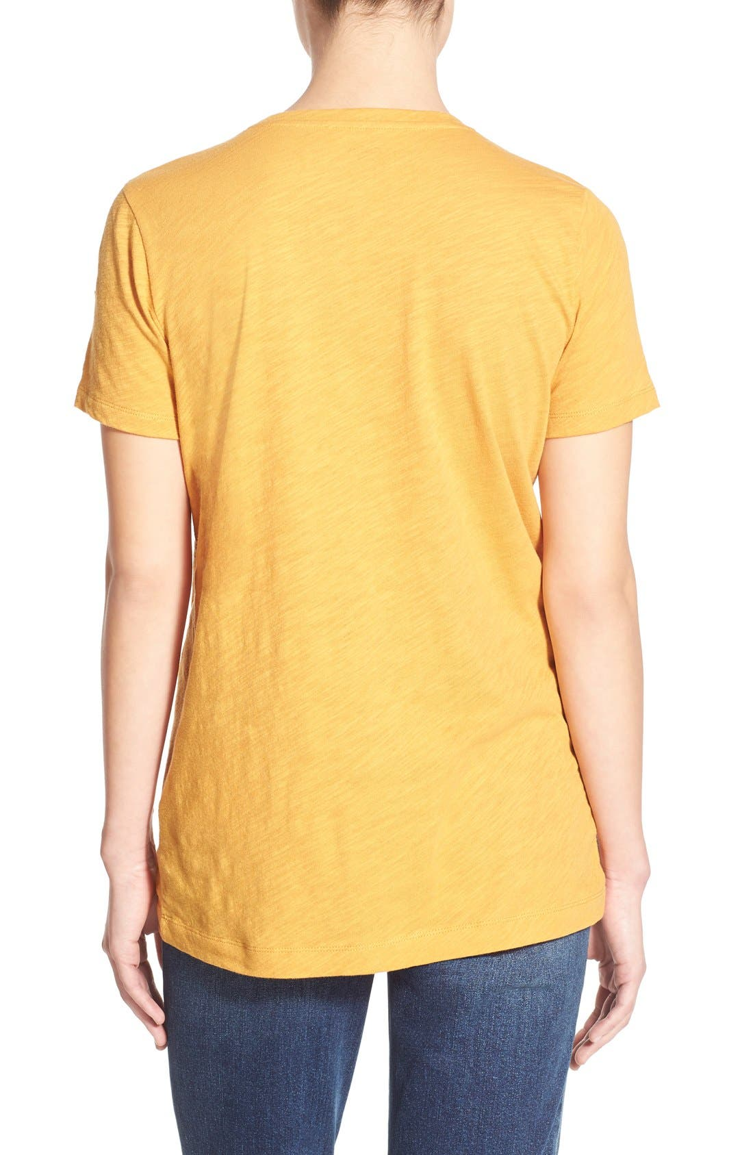 Whisper Cotton V-Neck Pocket Tee,                             Alternate thumbnail 204, color,