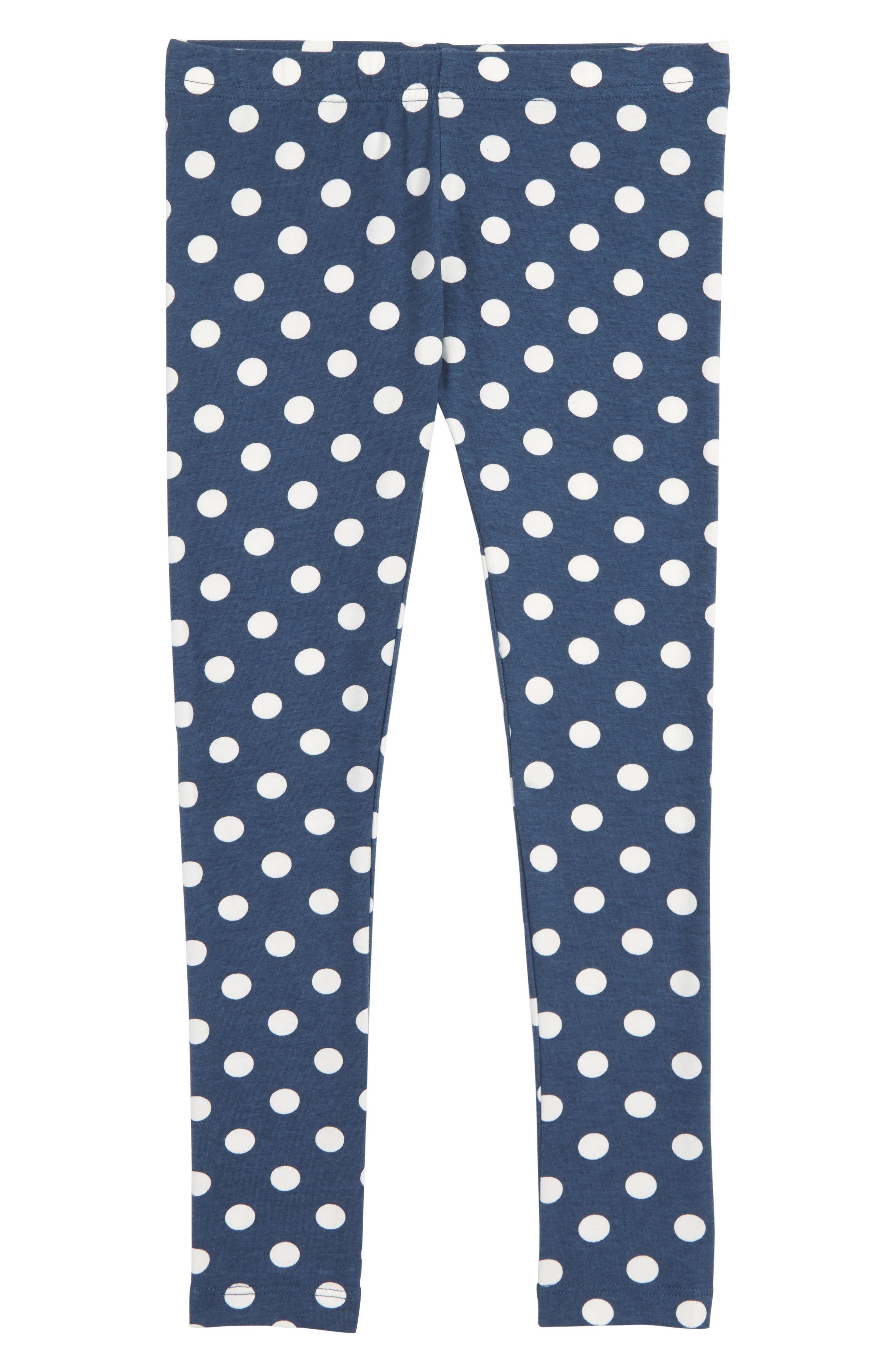 'Core' Print Leggings,                         Main,                         color, NAVY DENIM DOT