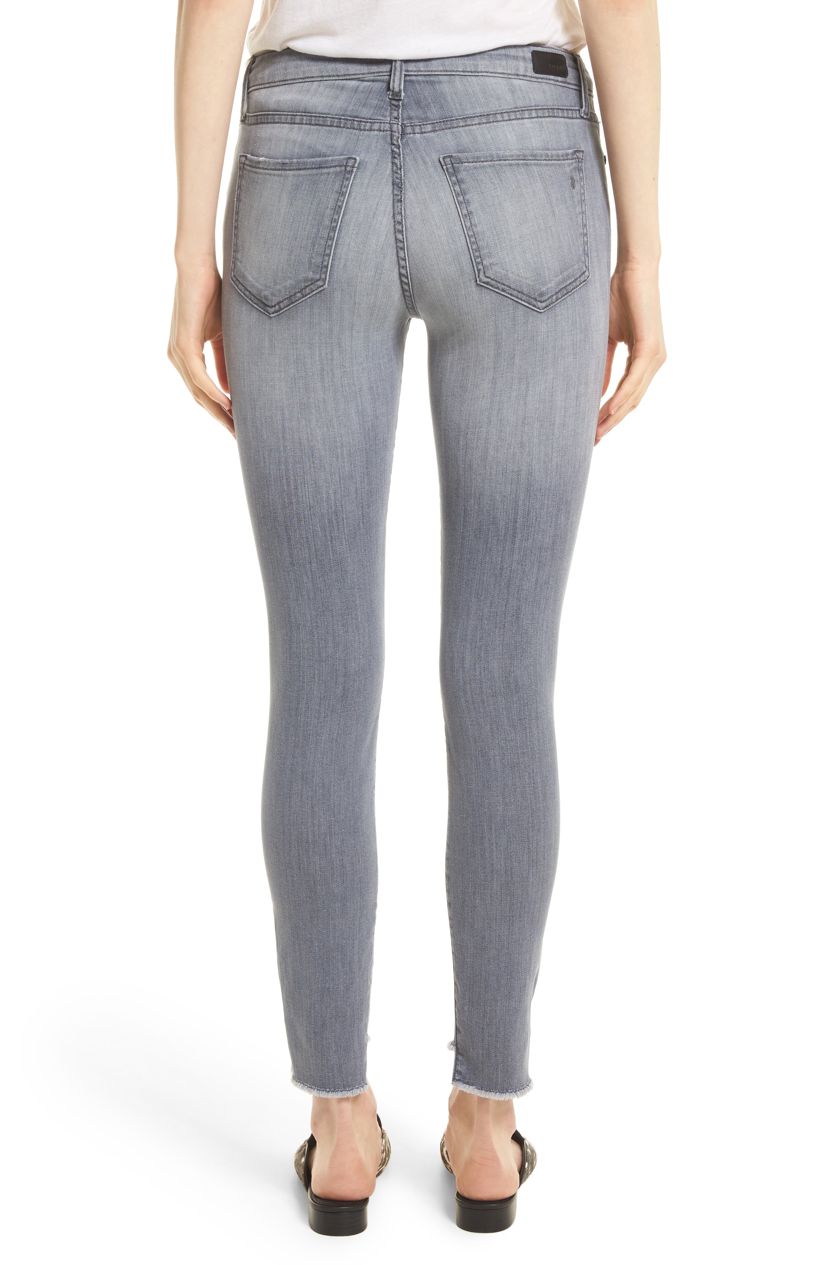 Step Hem Ankle Skinny Jeans,                             Alternate thumbnail 2, color,                             400