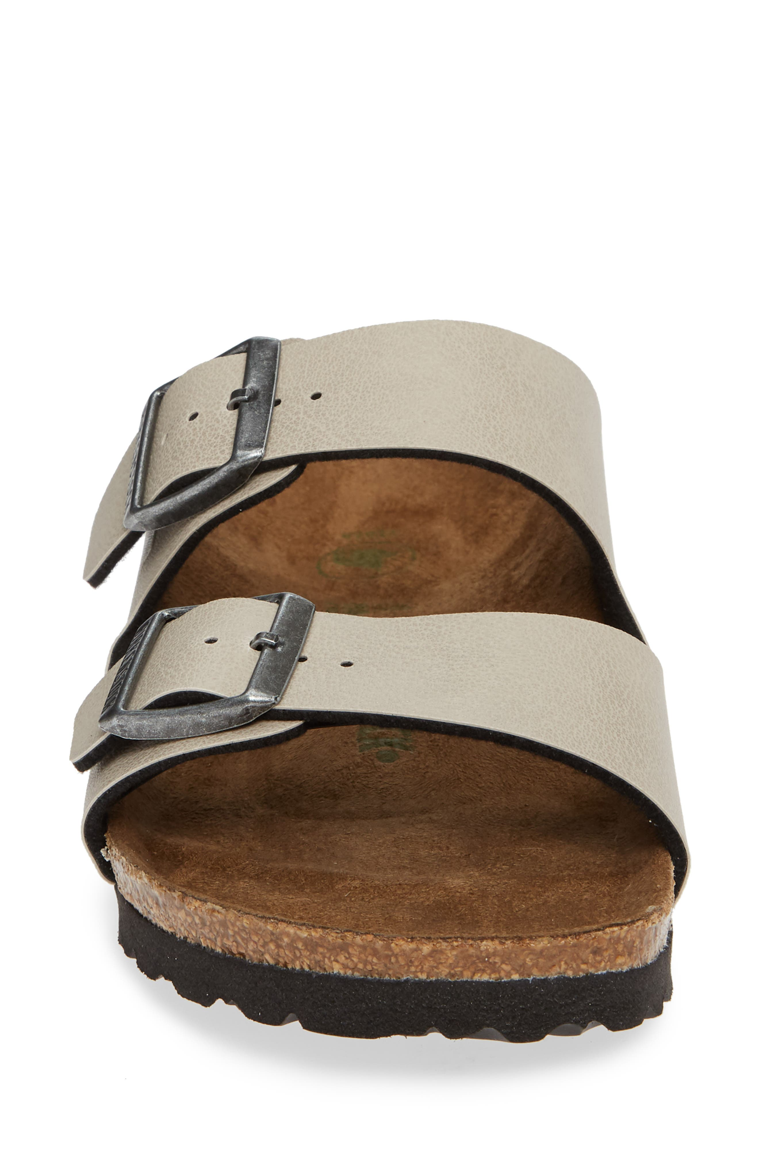 Arizona Birko-Flor<sup>™</sup> Slide Sandal,                             Alternate thumbnail 4, color,                             PULL UP STONE FAUX LEATHER