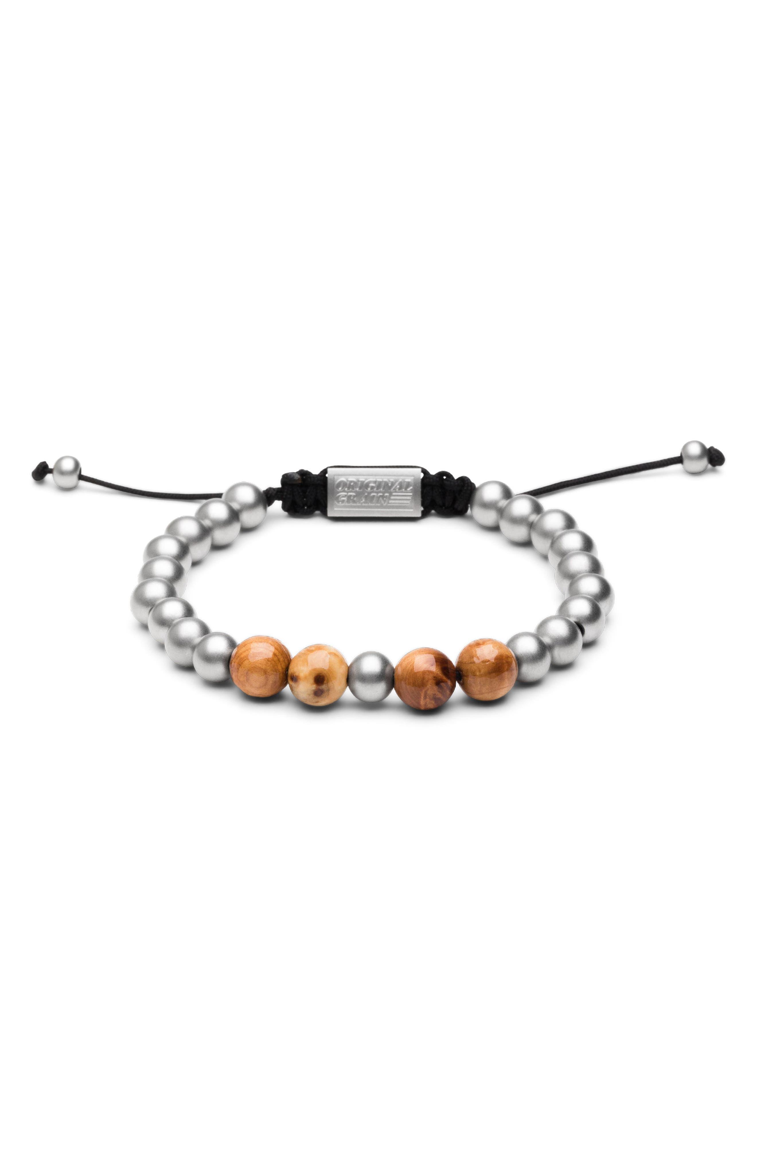 Bead Bracelet,                         Main,                         color, BURLWOOD STEEL