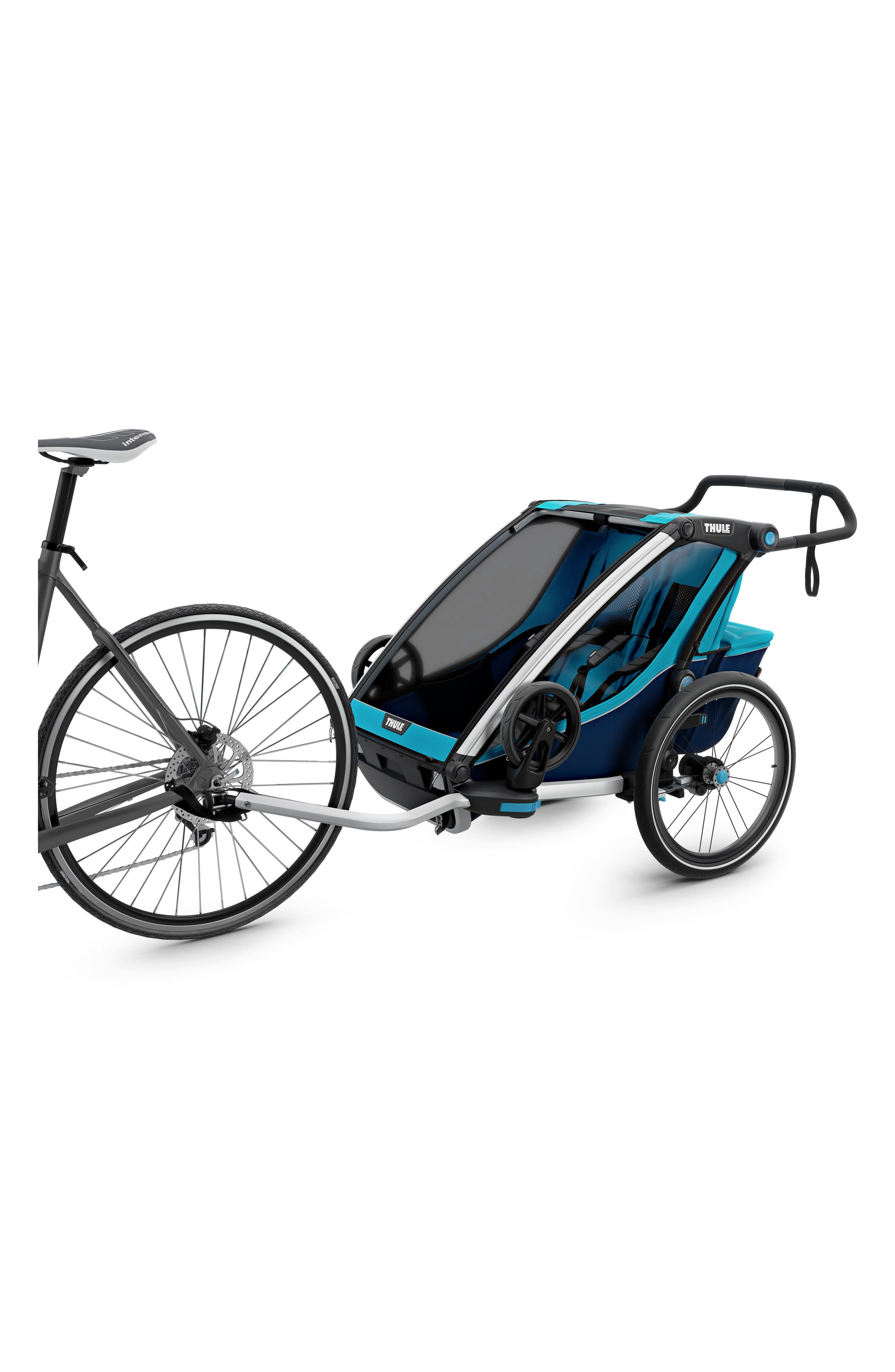 Chariot Cross 2 Multisport Double Cycle Trailer/Stroller,                             Alternate thumbnail 2, color,                             THULE BLUE