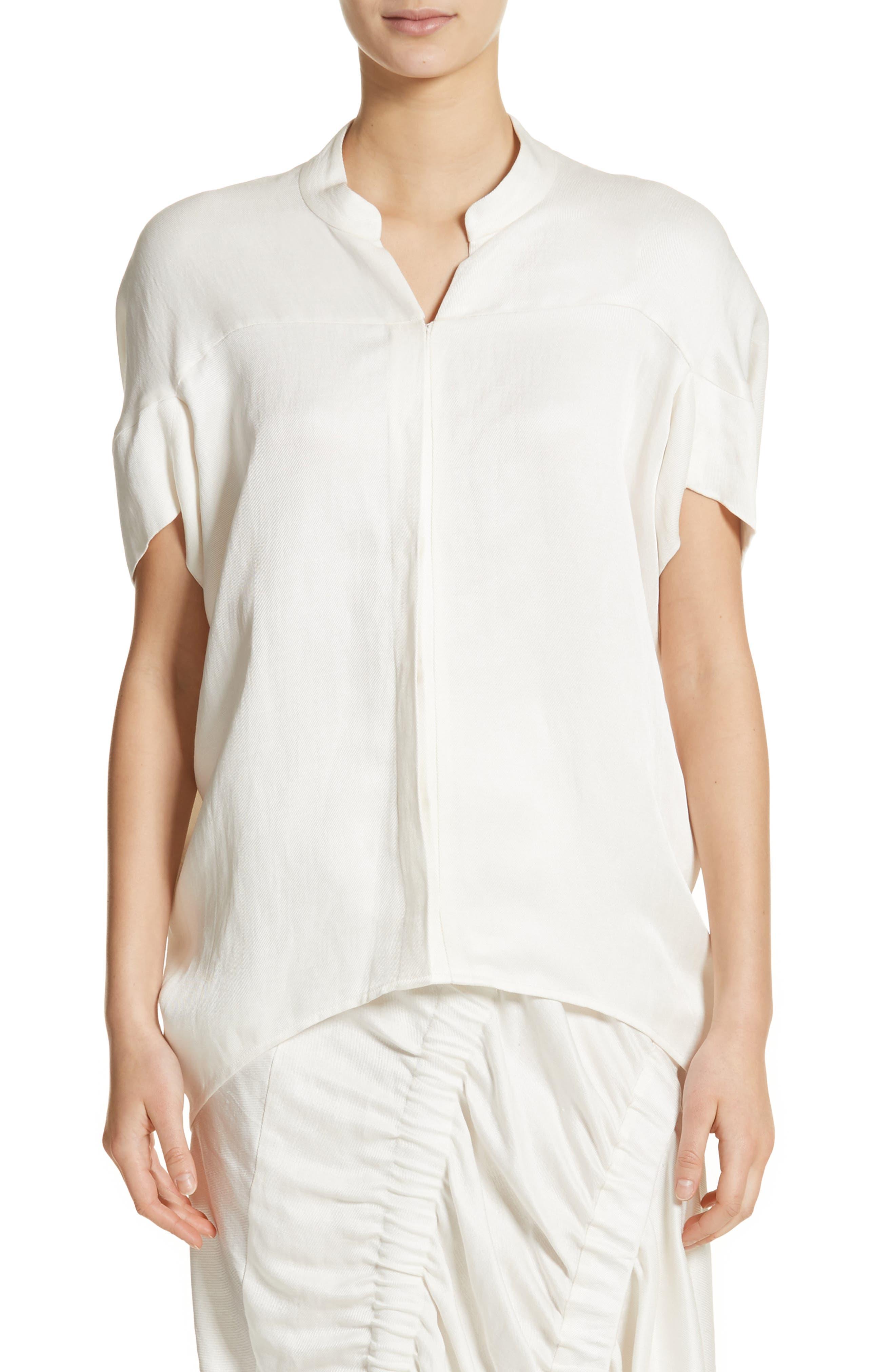 Concave Drape Shirt,                             Main thumbnail 1, color,                             100