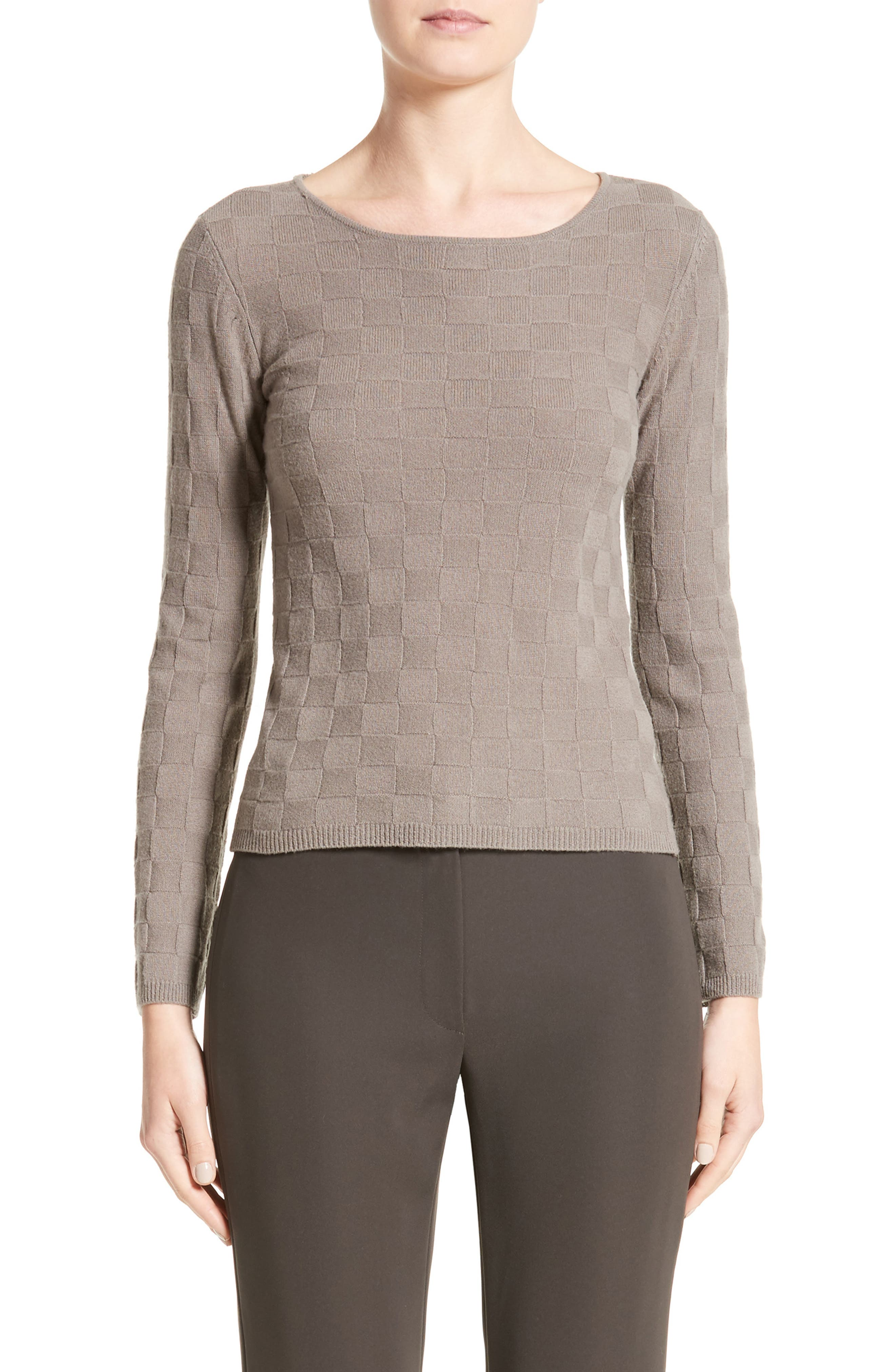 Checkerboard Cashmere Sweater,                             Main thumbnail 1, color,                             250