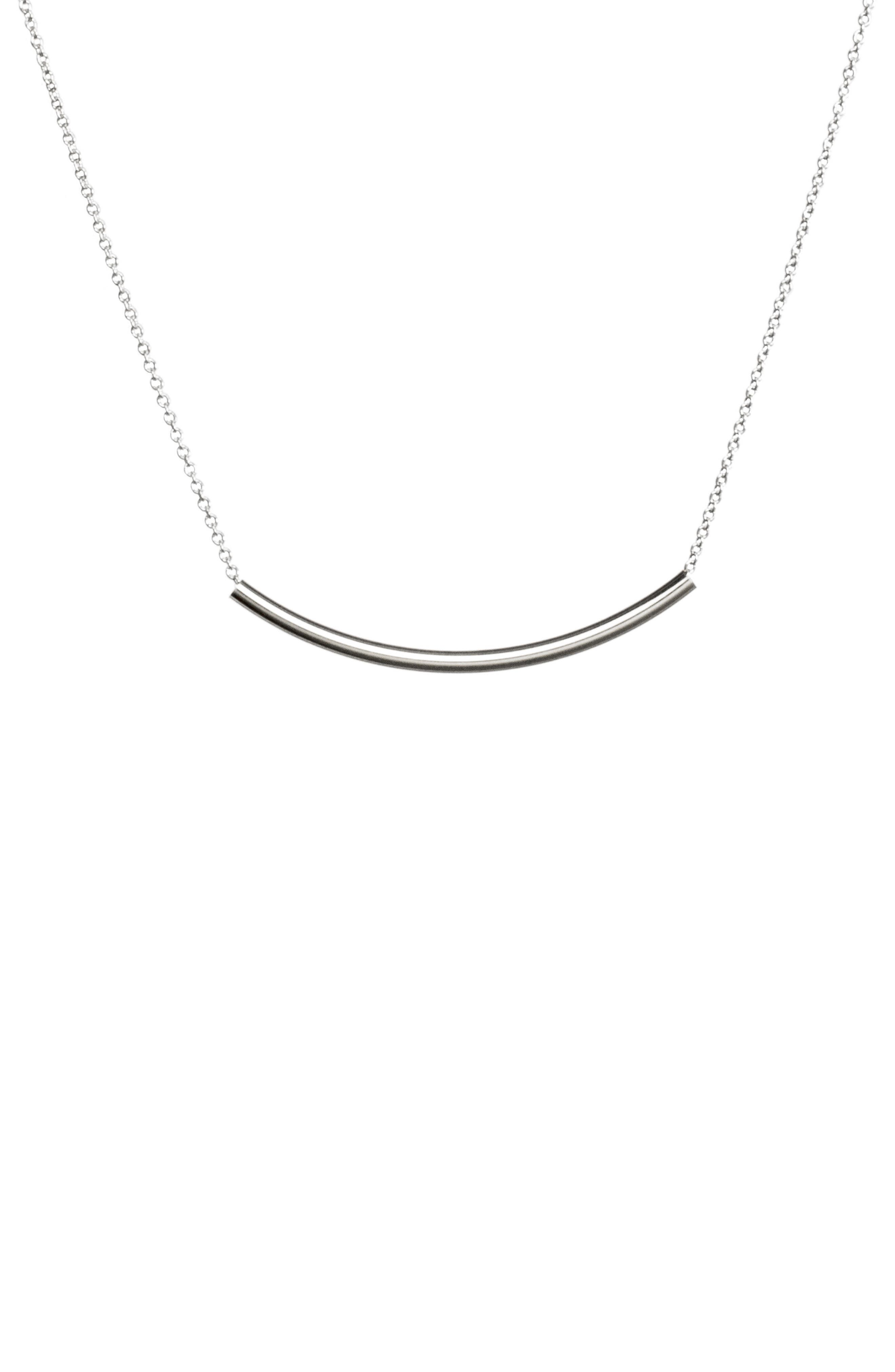 Balance Tube Chain Necklace,                             Alternate thumbnail 4, color,                             042