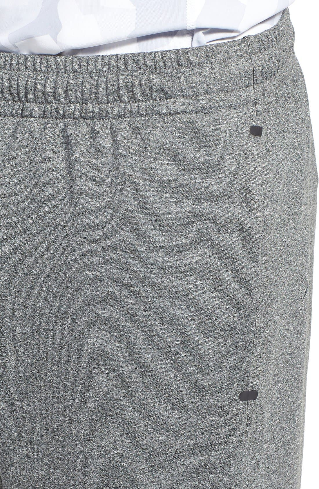'Pyrite' Tapered Fit Knit Athletic Pants,                             Alternate thumbnail 5, color,                             GREY OBSIDIAN