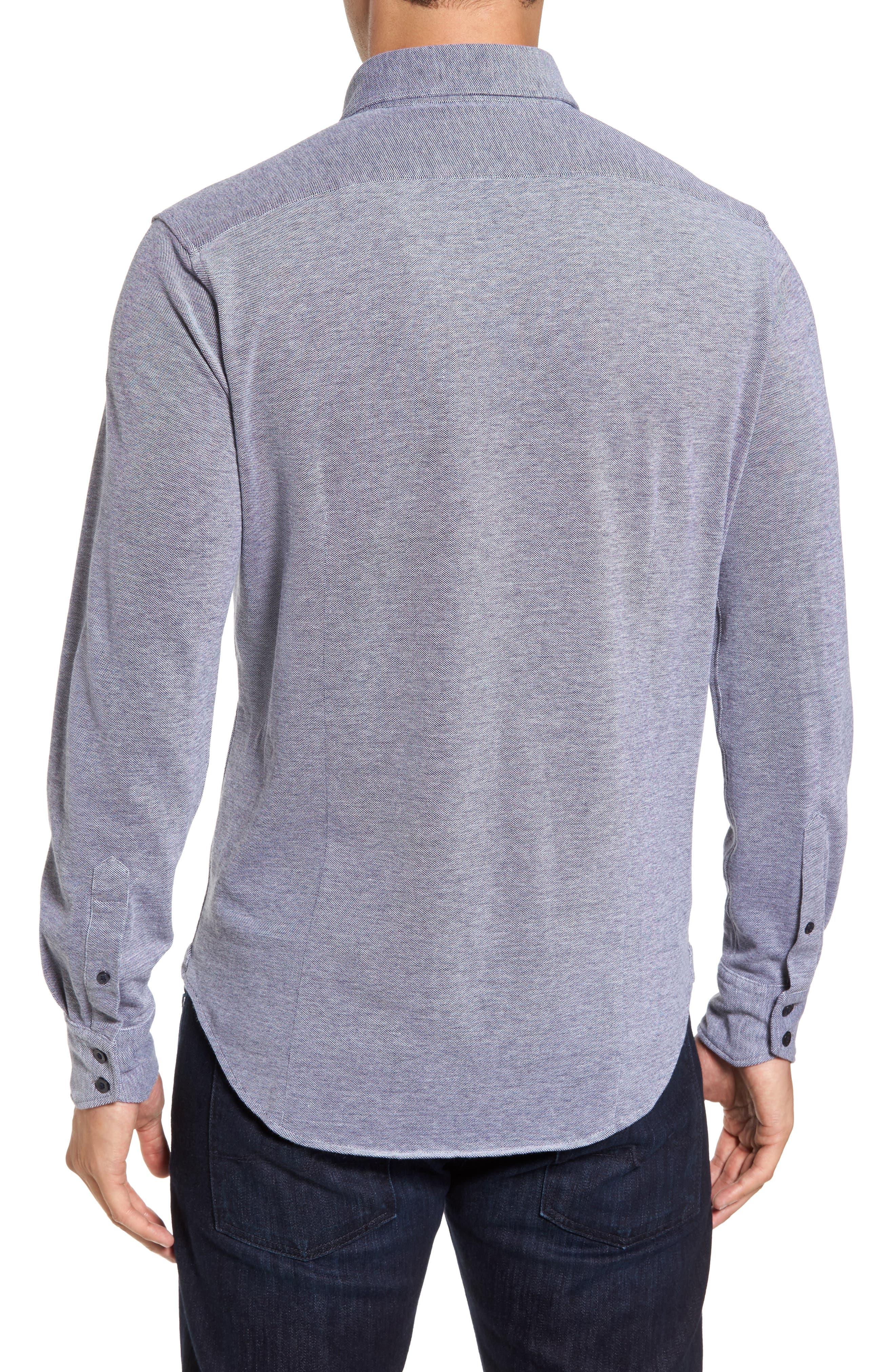 Regular Fit Oxford Piqué Sport Shirt,                             Alternate thumbnail 2, color,