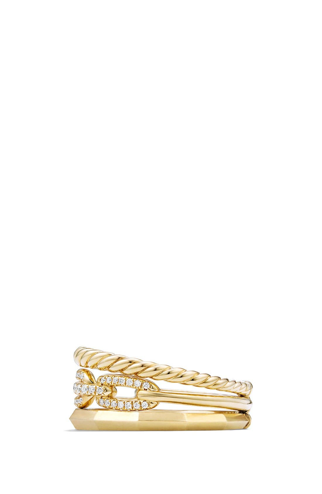 'Stax' Narrow Diamond Ring,                             Alternate thumbnail 2, color,                             YELLOW GOLD
