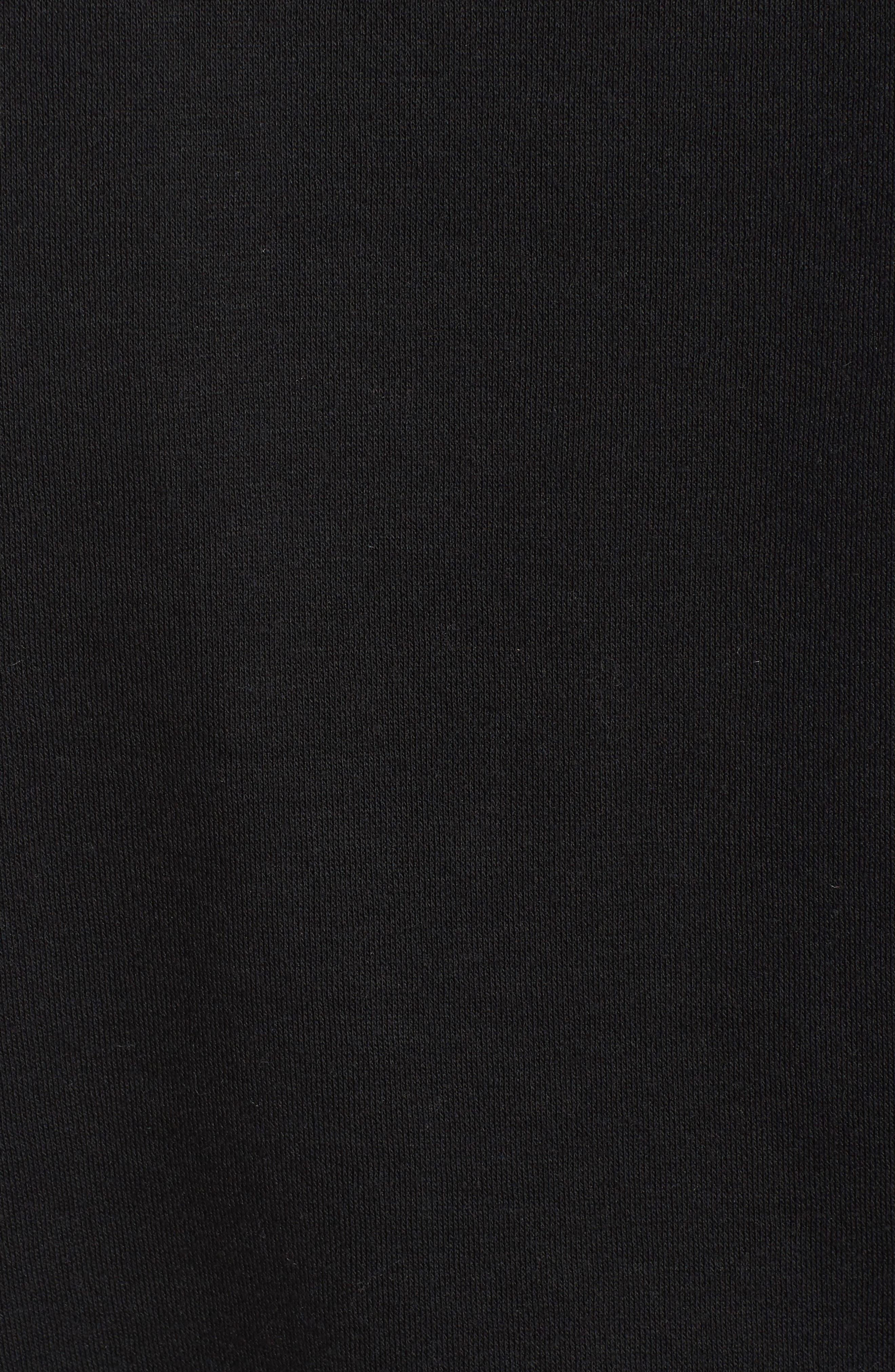 Gracie Cold Shoulder Sweatshirt,                             Alternate thumbnail 6, color,                             001