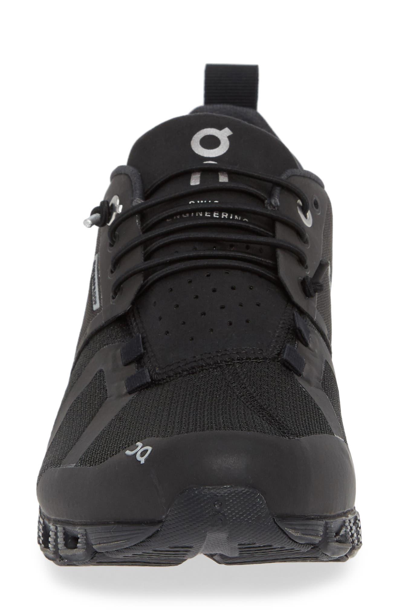 Cloud Waterproof Running Shoe,                             Alternate thumbnail 4, color,                             BLACK/ LUNAR