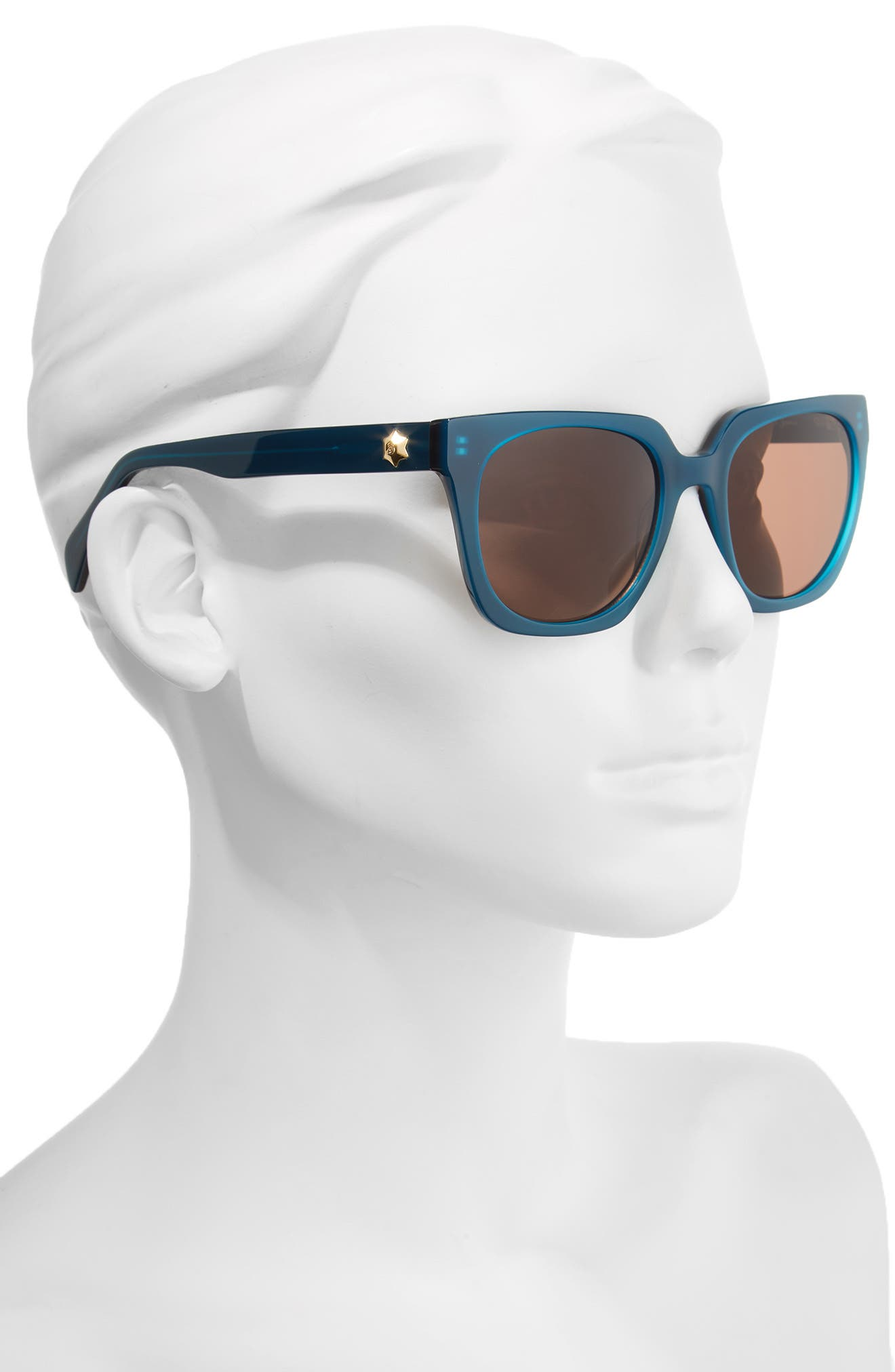 54mm Square Sunglasses,                             Alternate thumbnail 2, color,                             BLUE