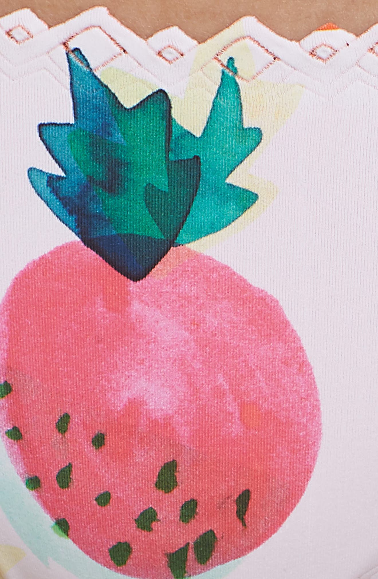 Seamless Scalloped Reversible Bikini Bottoms,                             Alternate thumbnail 5, color,                             COPACABANA