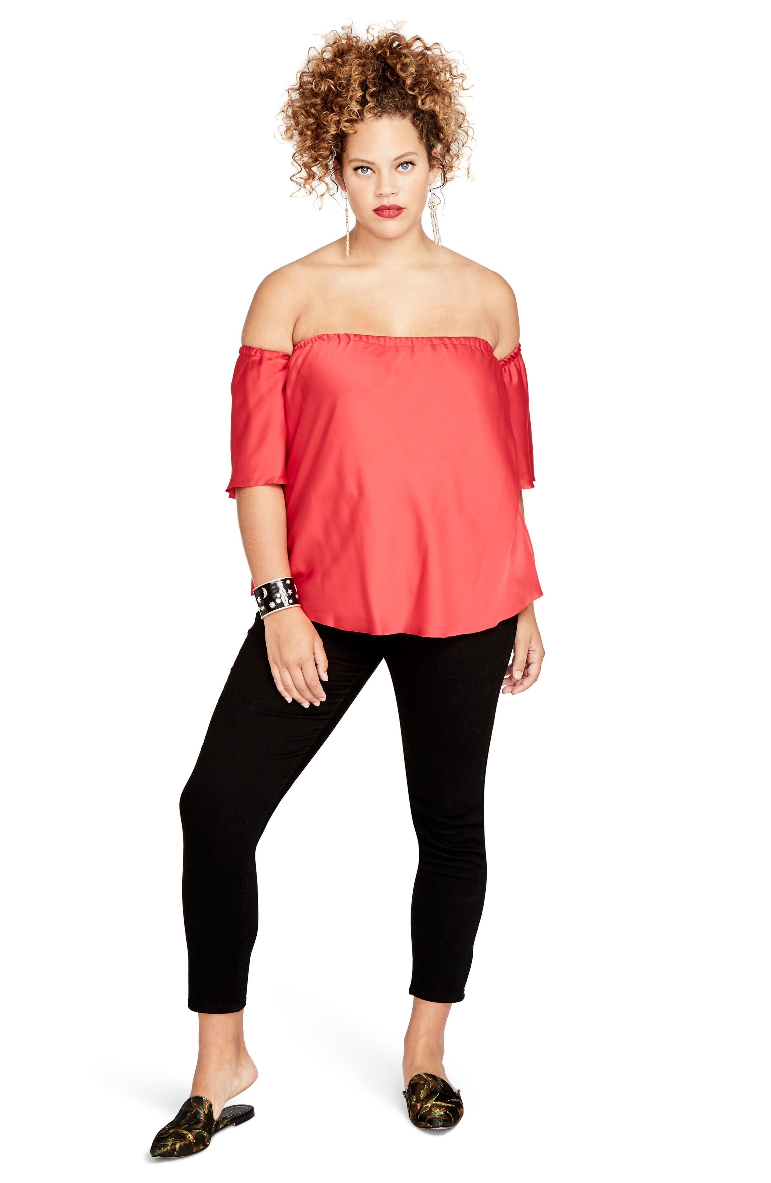Off the Shoulder Top,                             Alternate thumbnail 3, color,                             648