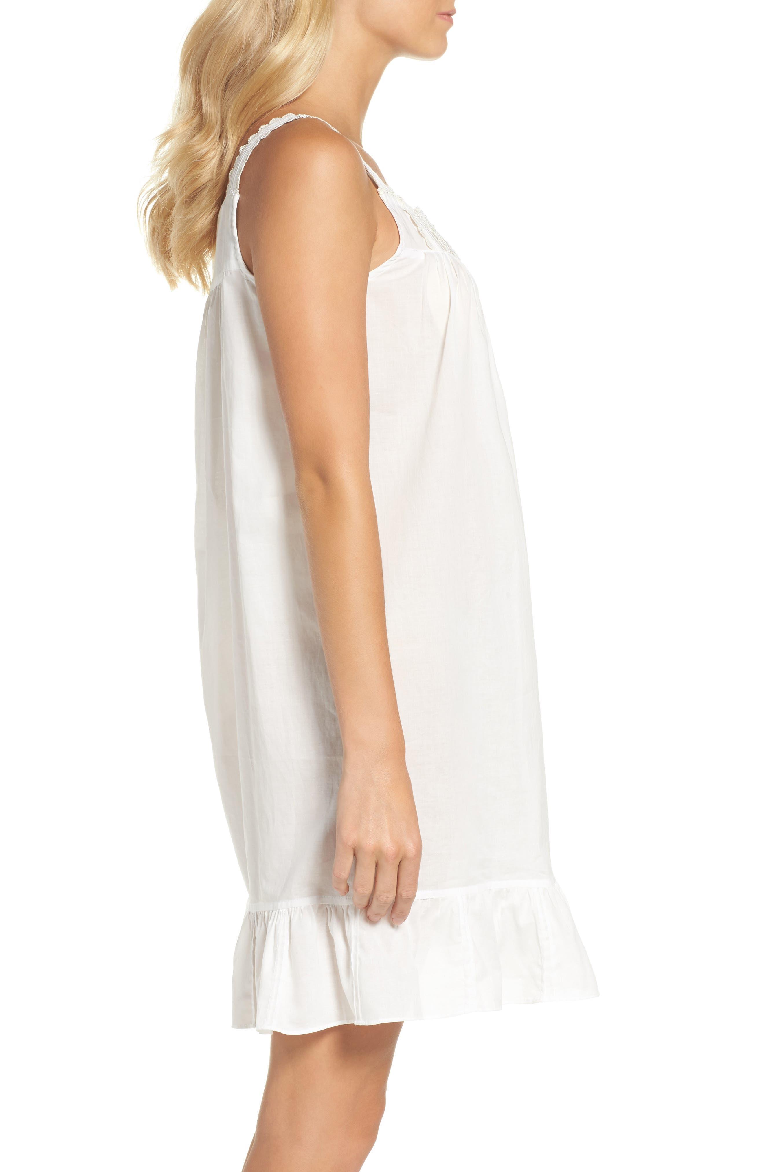 Short Lawn Nightgown,                             Alternate thumbnail 3, color,                             100