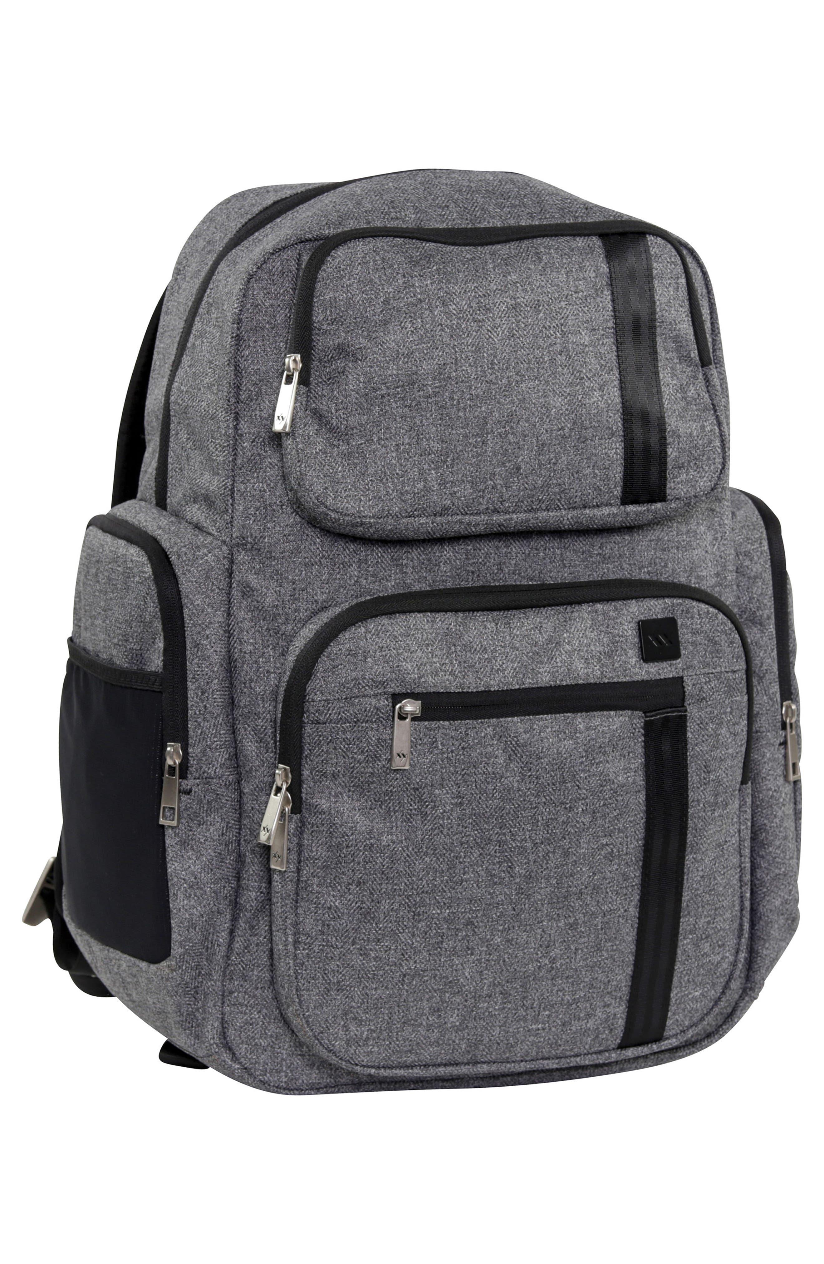 XY Vector Diaper Backpack,                             Alternate thumbnail 5, color,                             GRAY MATTER