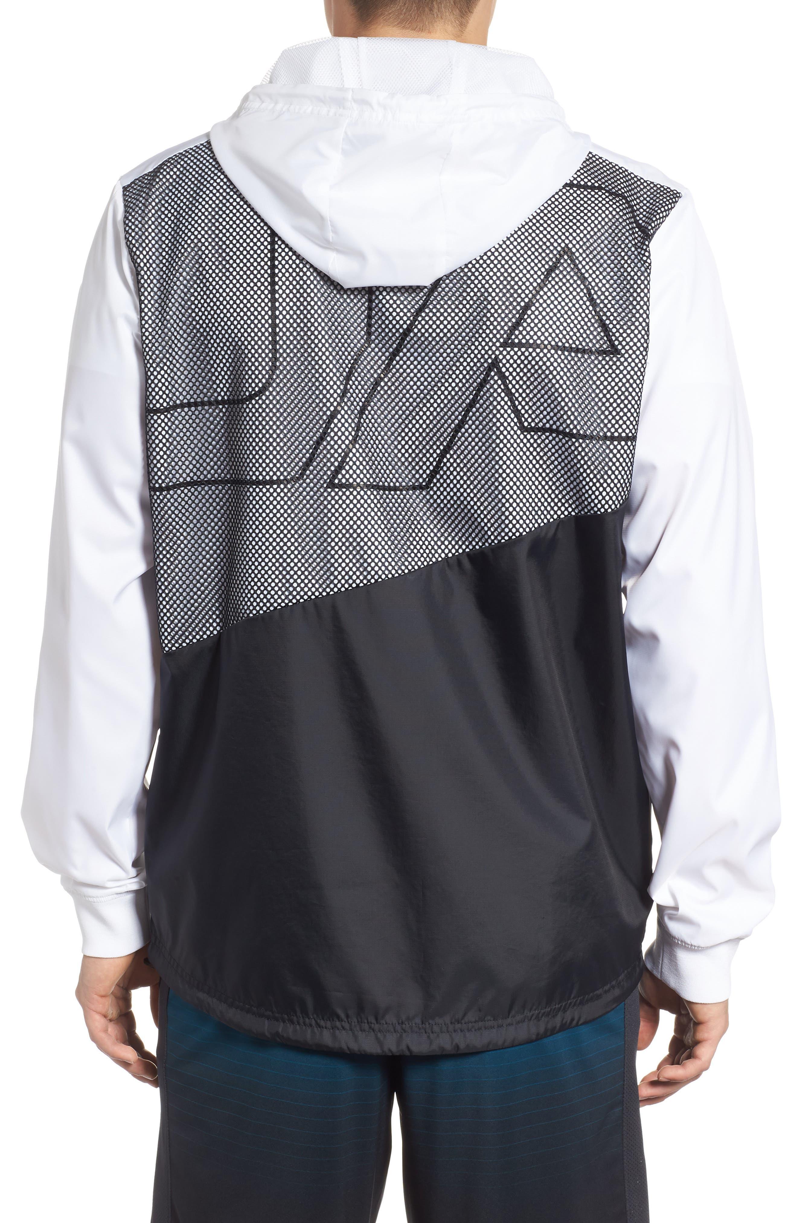 Sportstyle Regular Full Zip Jacket,                             Alternate thumbnail 2, color,                             WHITE