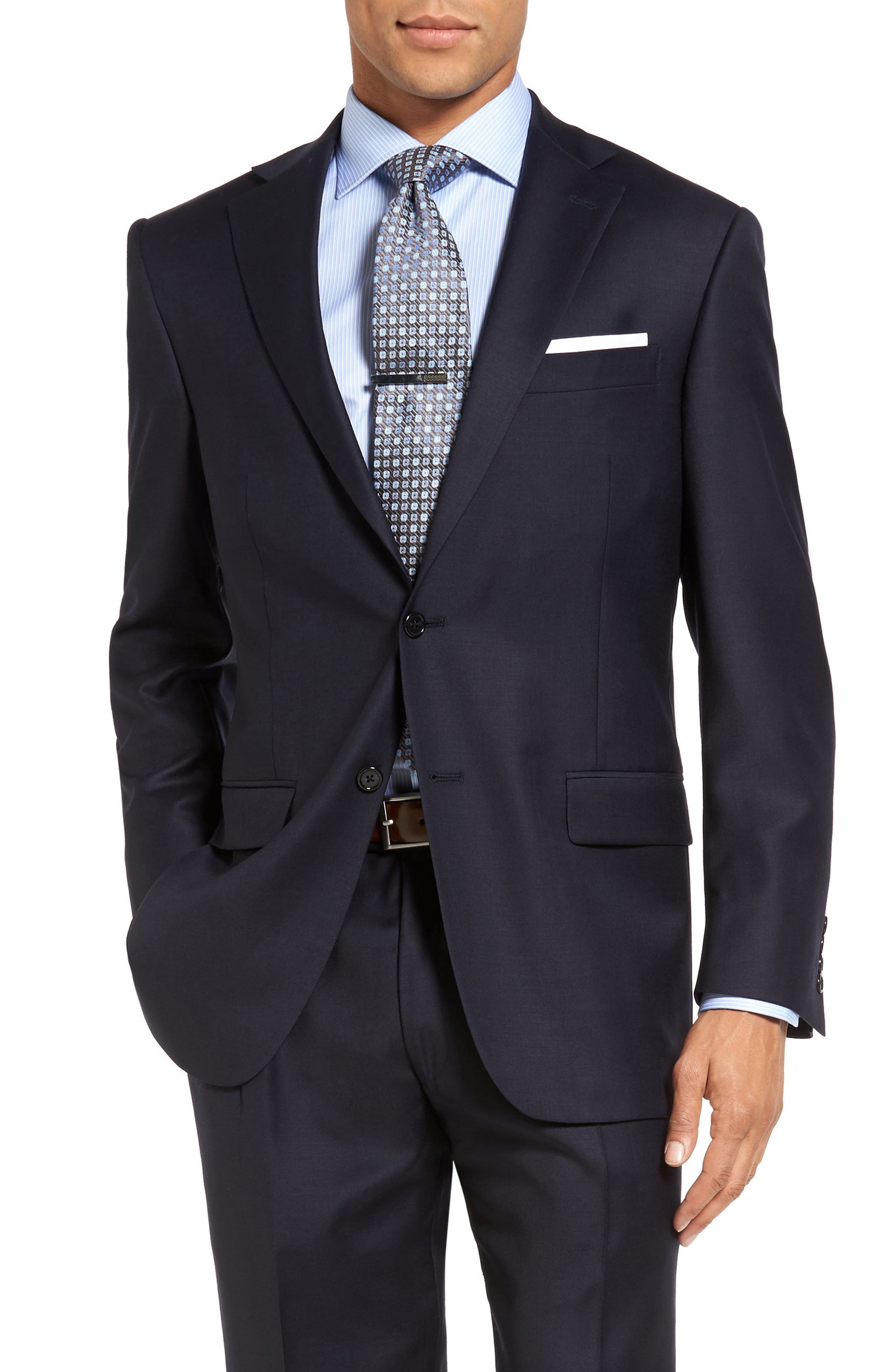 Chicago Classic Fit Solid Wool Suit,                             Alternate thumbnail 4, color,