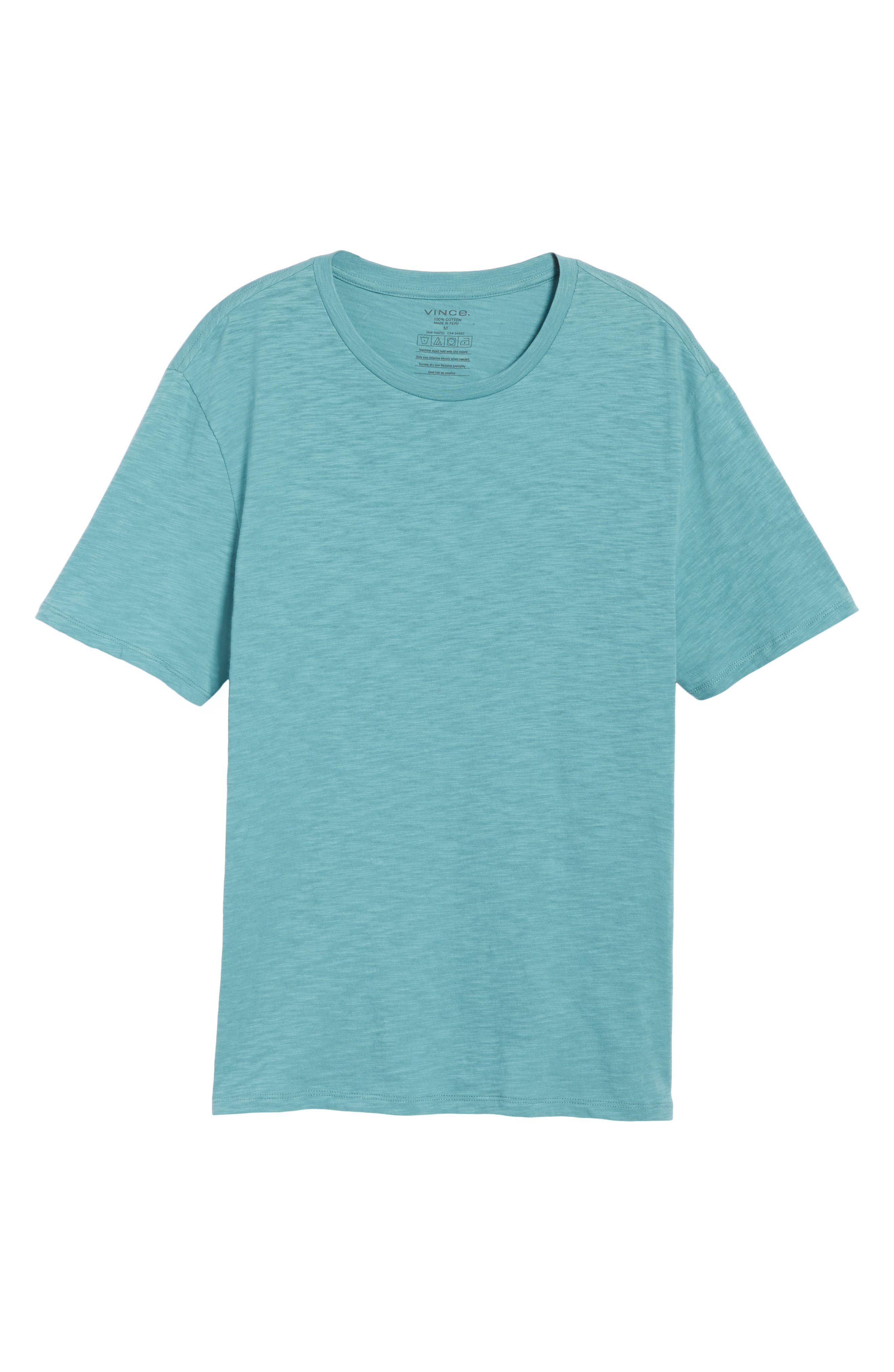 Slim Fit Slub Cotton T-Shirt,                             Alternate thumbnail 6, color,