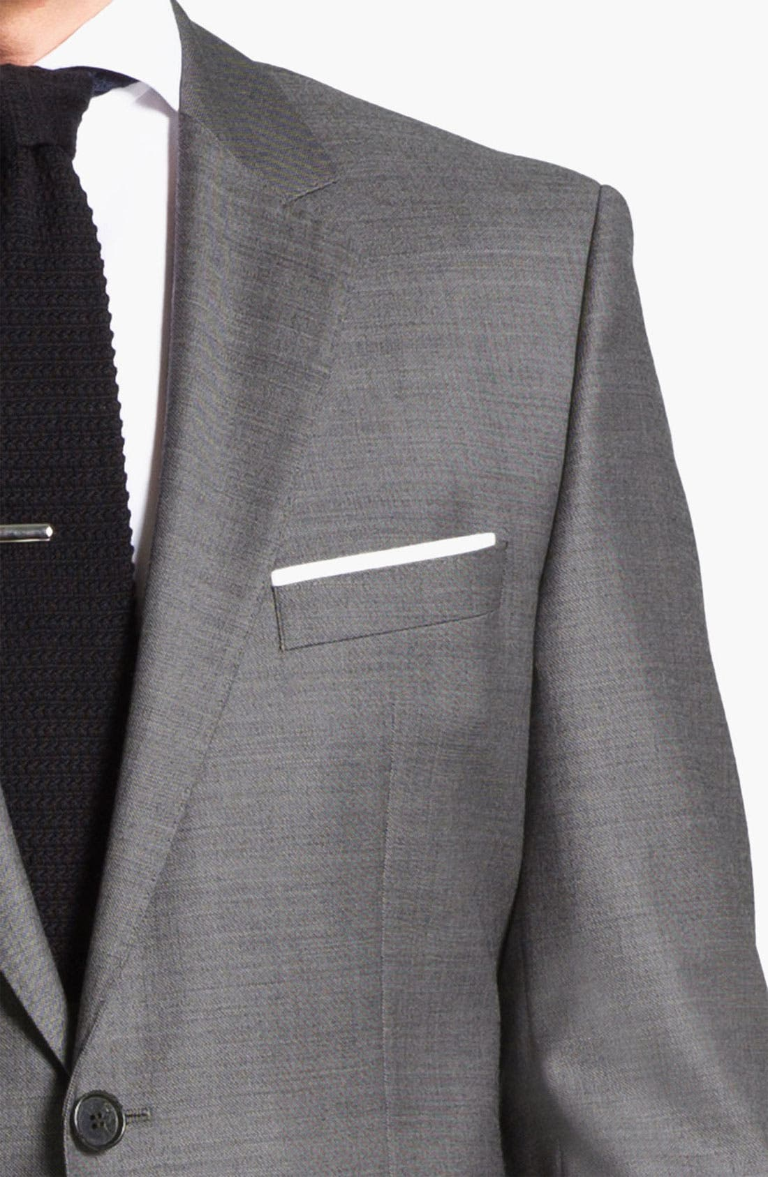 BOSS HUGO BOSS 'James/Sharp' Trim Fit Wool Suit,                             Alternate thumbnail 3, color,                             020