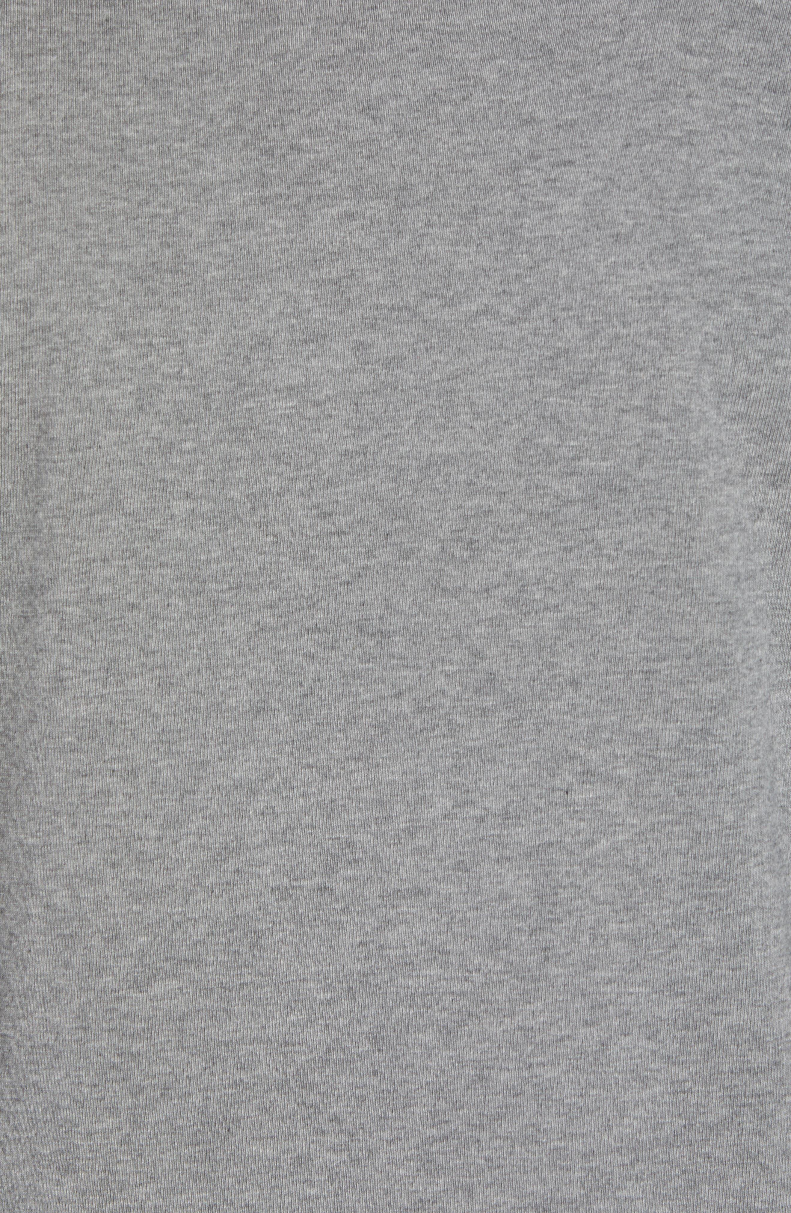 Sportswear NSW Appliqué T-Shirt,                             Alternate thumbnail 5, color,                             CARBON HEATHER