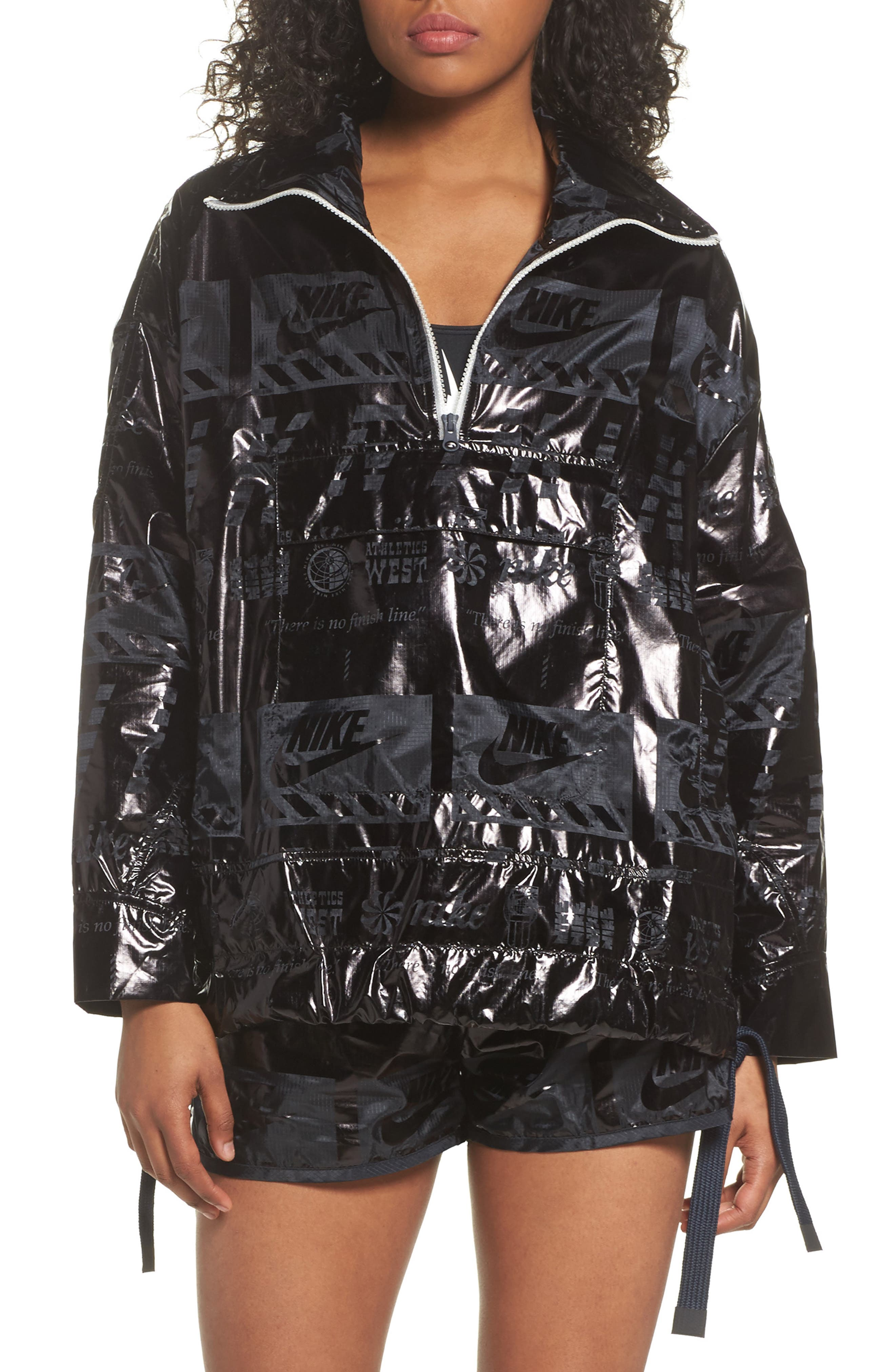 Sportswear Metallic Half Zip Jacket,                             Main thumbnail 1, color,