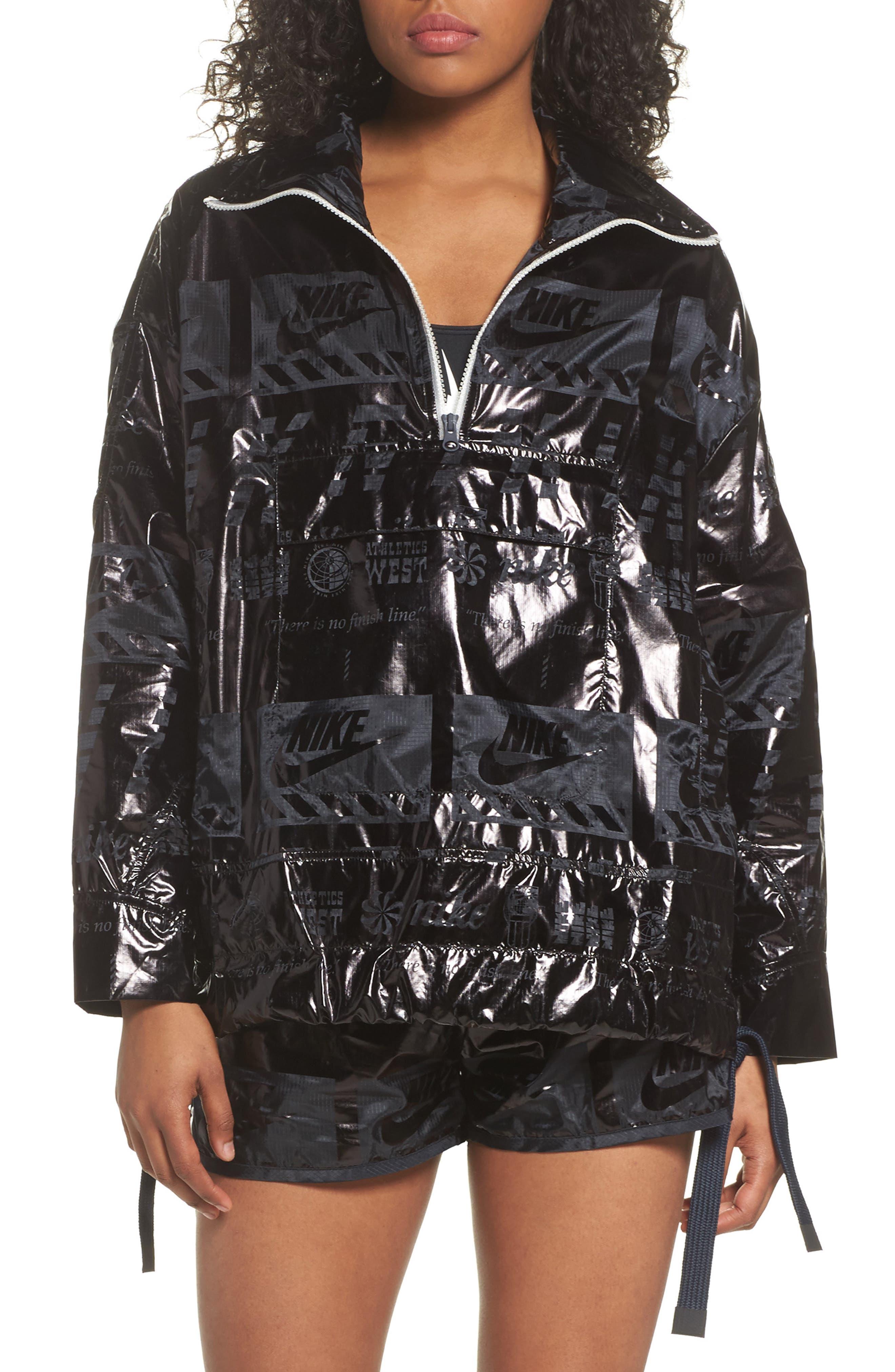 Sportswear Metallic Half Zip Jacket,                         Main,                         color,