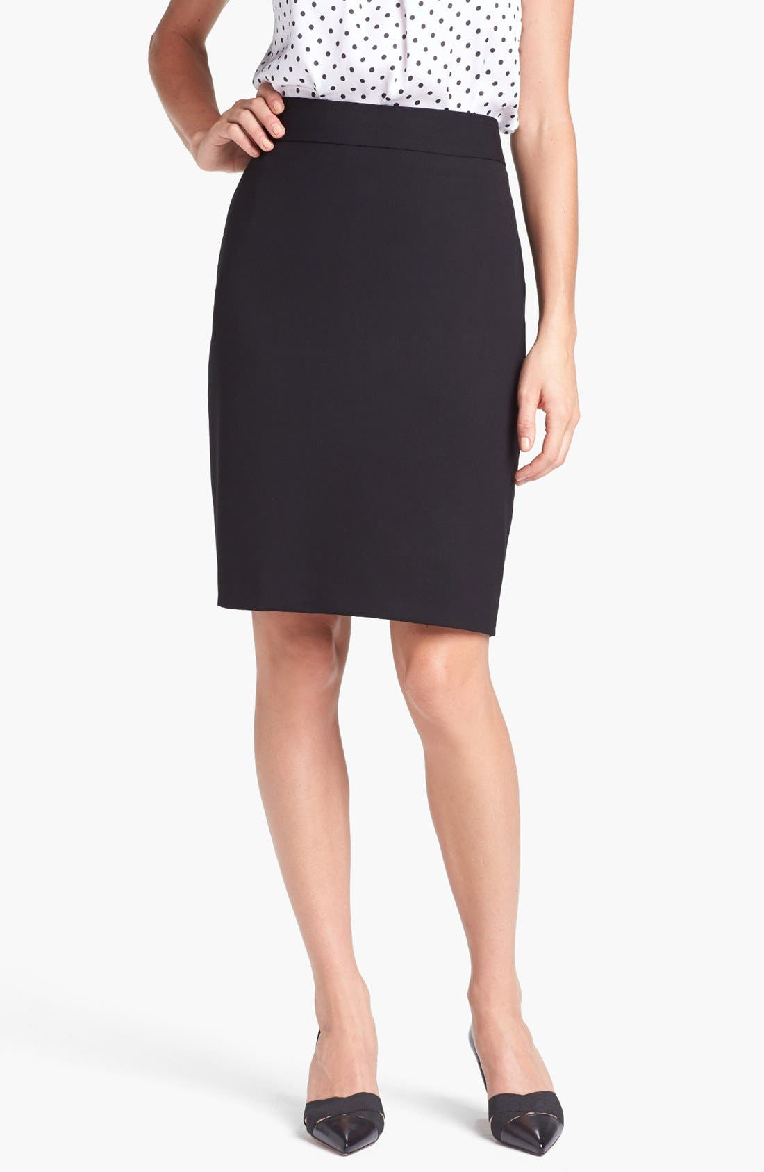 'Lucy - Seasonless Stretch' Pencil Skirt,                             Main thumbnail 1, color,                             001