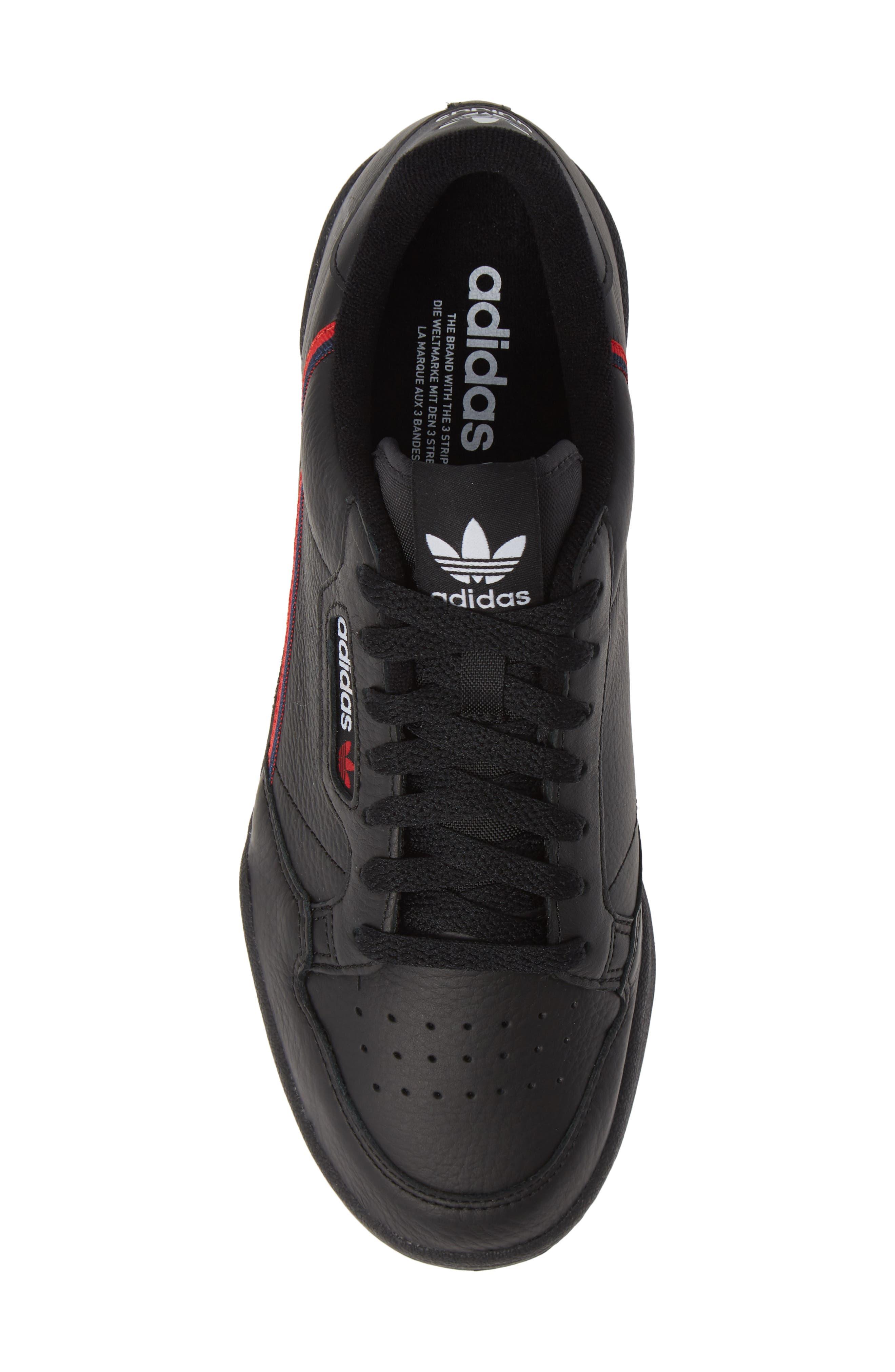 Continental 80 Sneaker,                             Alternate thumbnail 5, color,                             BLACK/ SCARLET/ NAVY