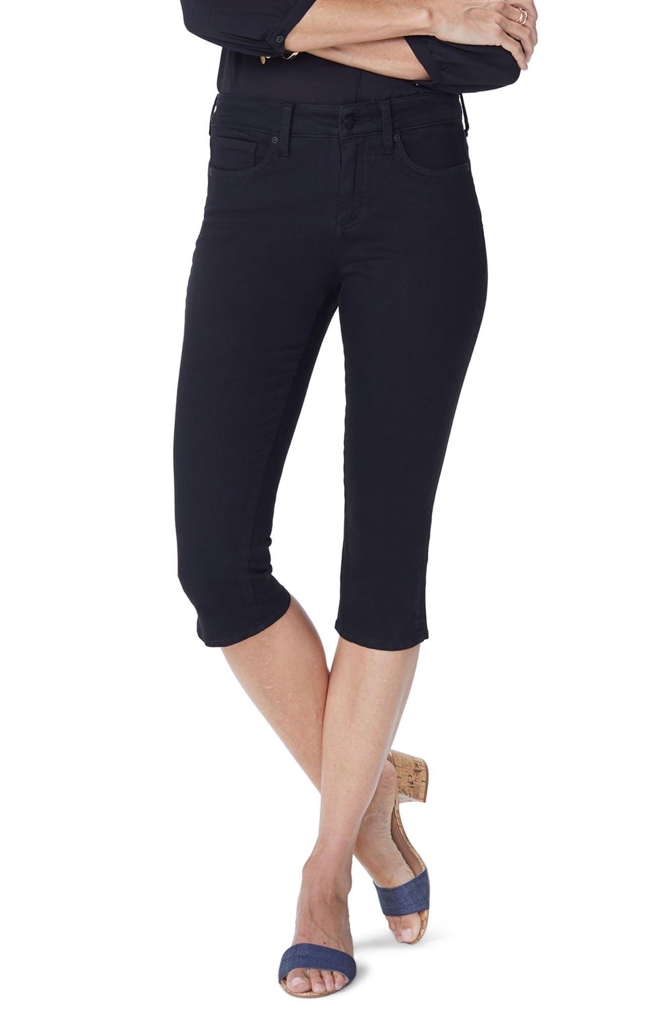 Nydj Skinny Capri Pants, Black