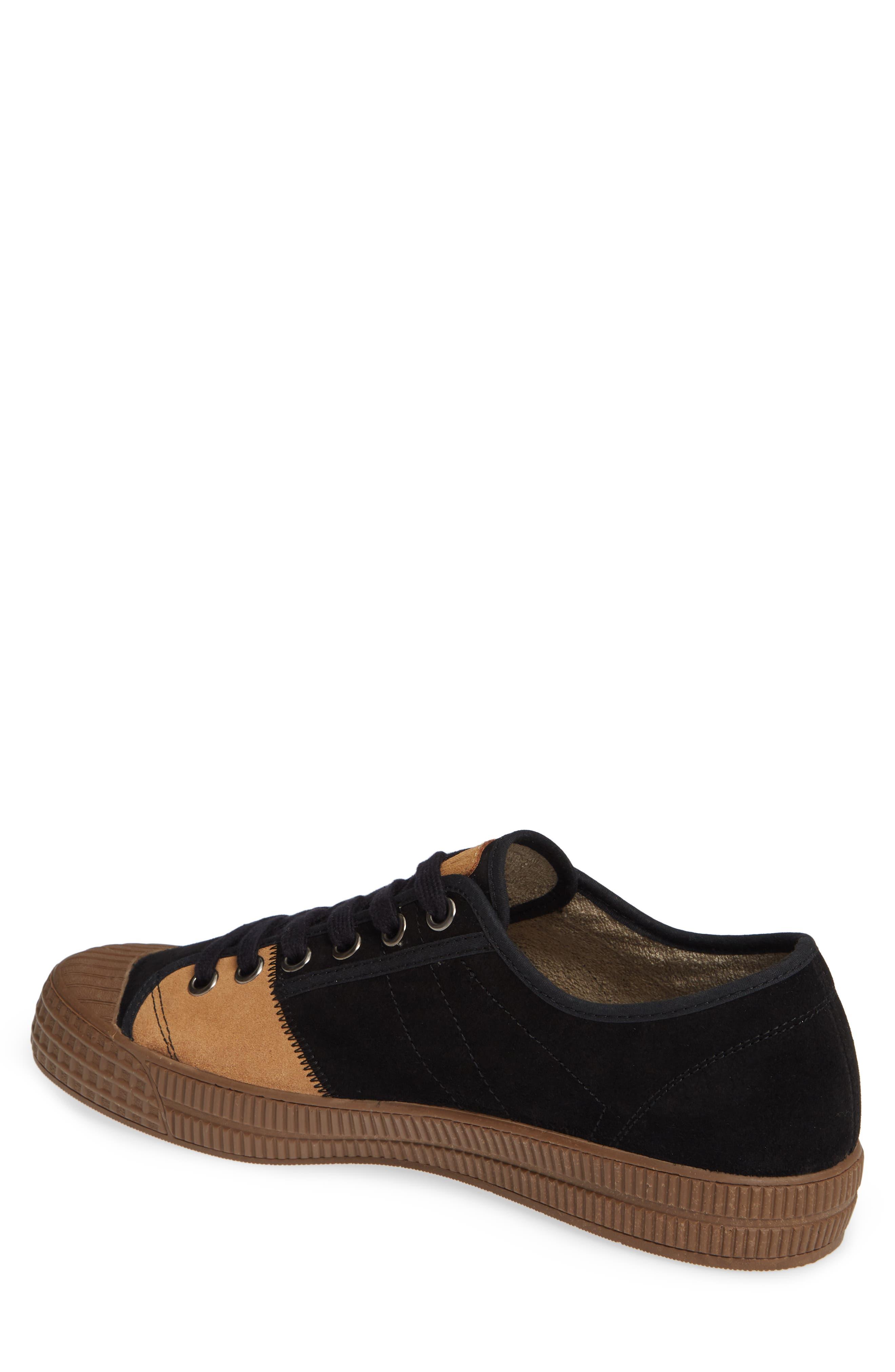 Foto Sneaker,                             Alternate thumbnail 2, color,                             BLACK/ CAMEL SUEDE