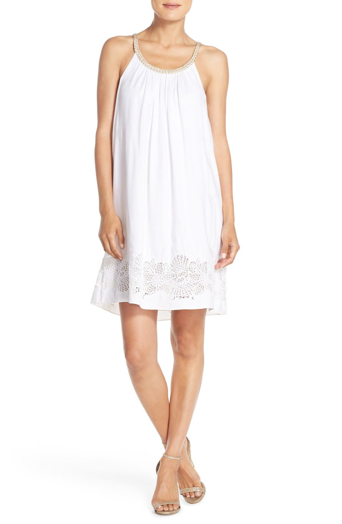 LILLY PULITZER<SUP>®</SUP>,                             'Sienna' Embroidered Swing Dress,                             Alternate thumbnail 3, color,                             115