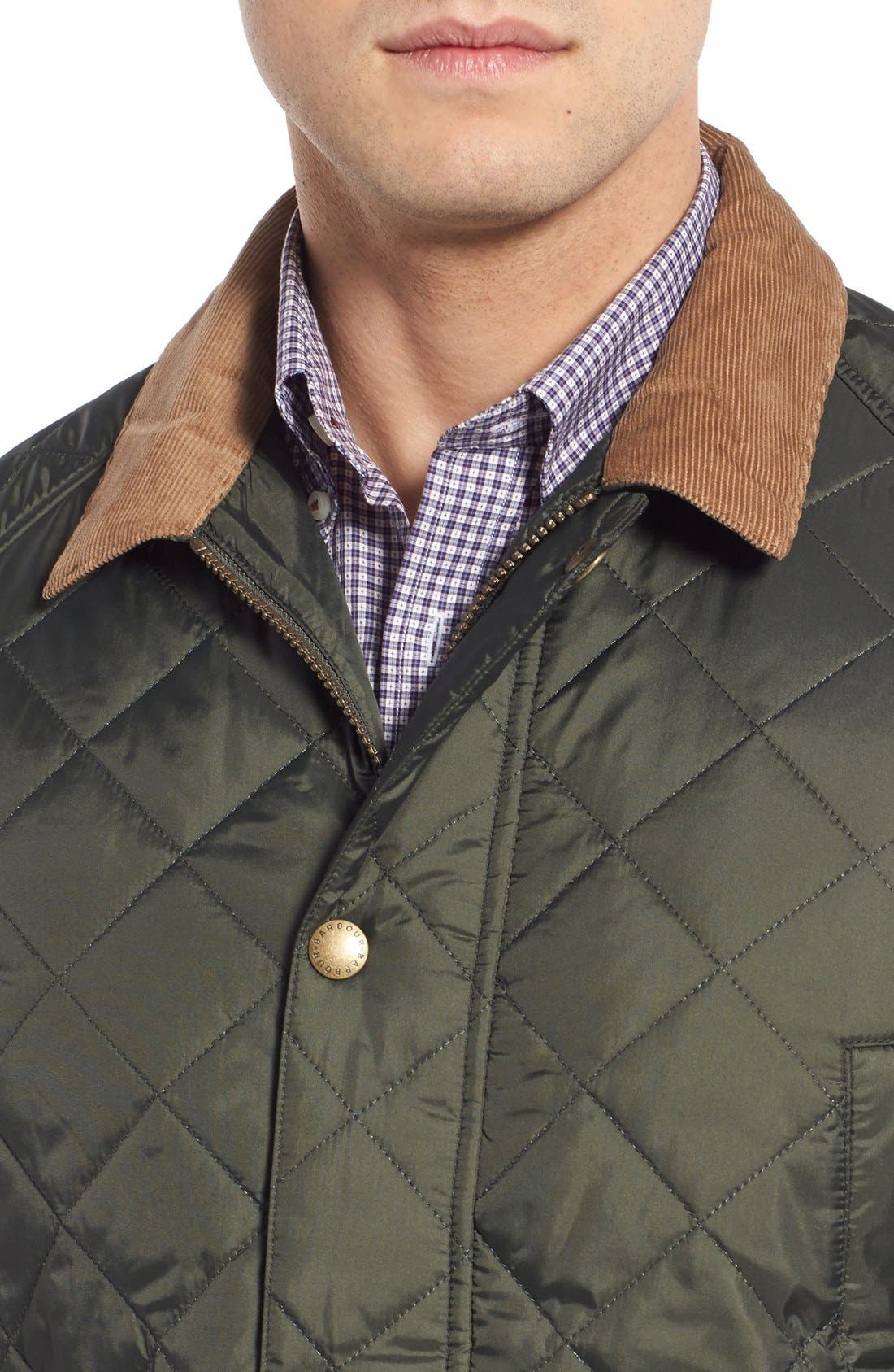'Canterdale' Slim Fit Water-Resistant Diamond Quilted Jacket,                             Alternate thumbnail 10, color,                             305