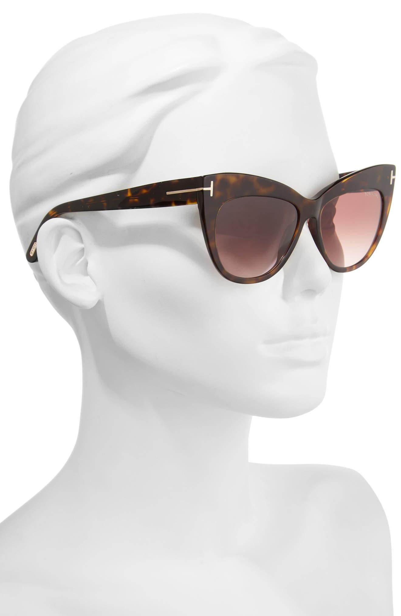 Nika 56mm Gradient Cat Eye Sunglasses,                             Alternate thumbnail 6, color,