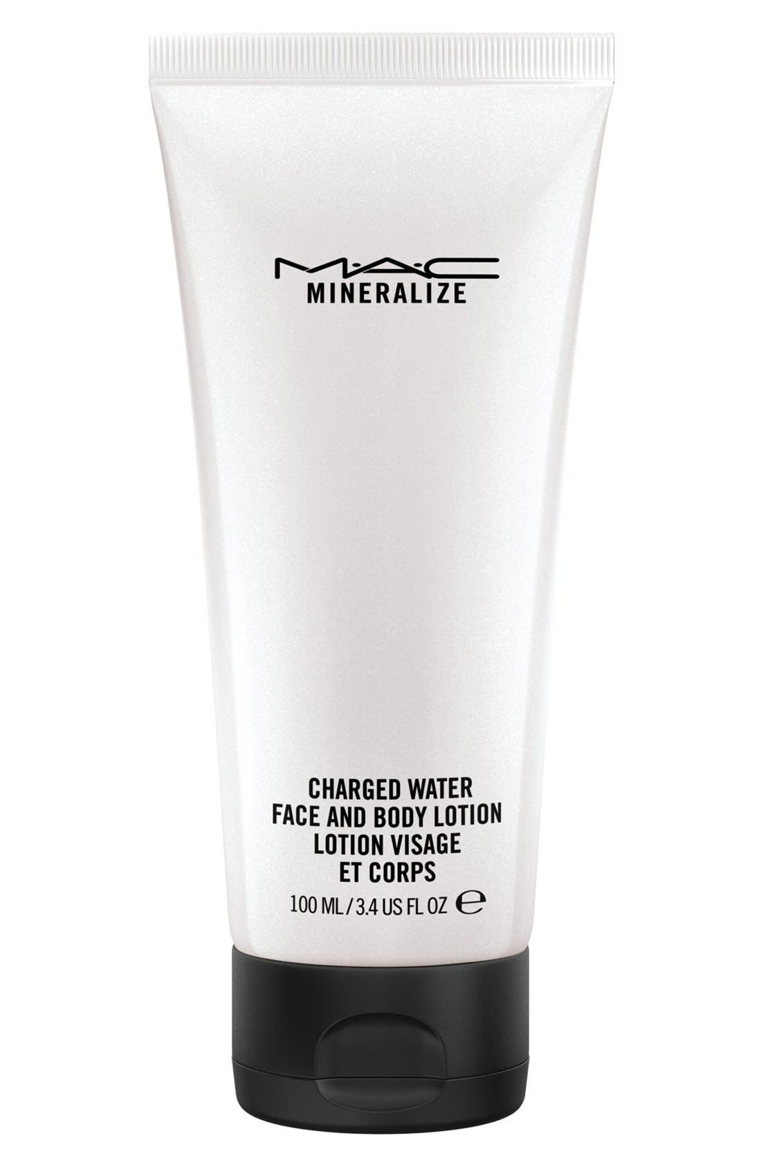 MAC 'Mineralize' Charged Water Face & Body Lotion, Main, color, 000