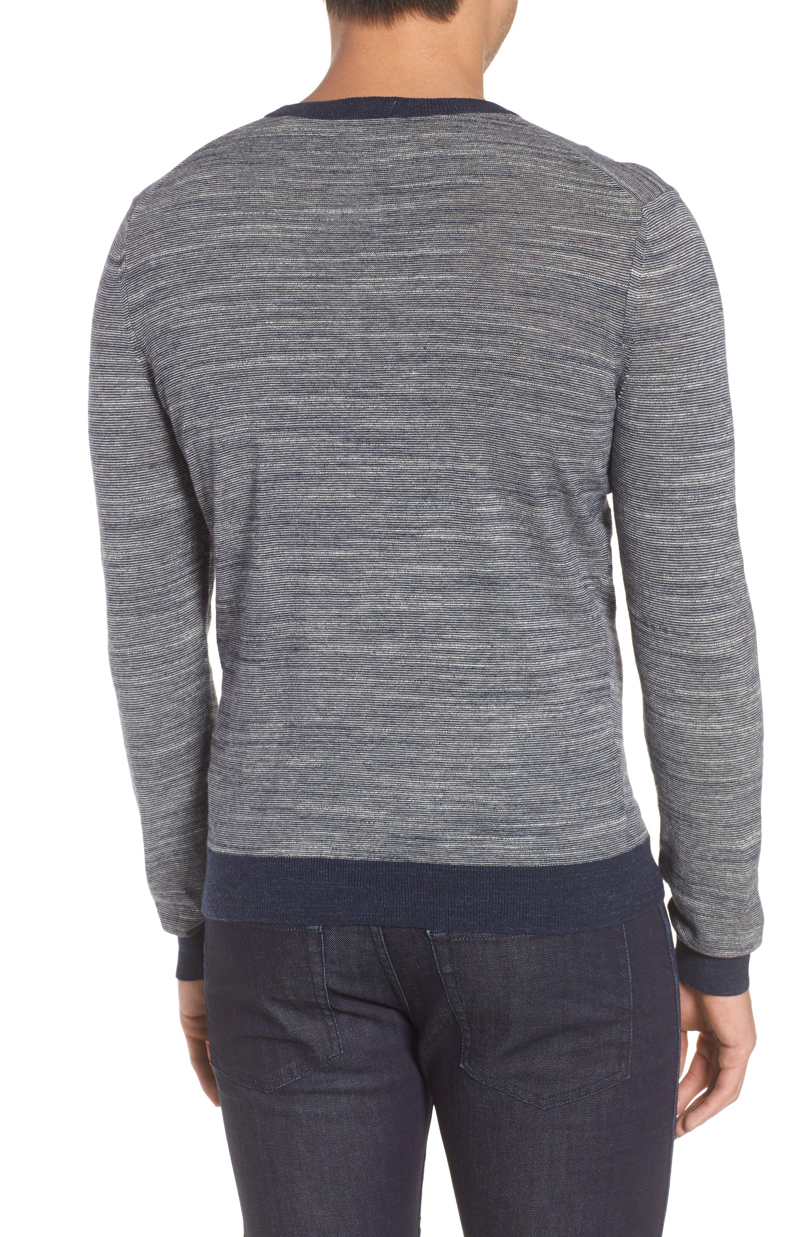 Pintor Slim Fit Fineline Stripe Sweater,                             Alternate thumbnail 4, color,
