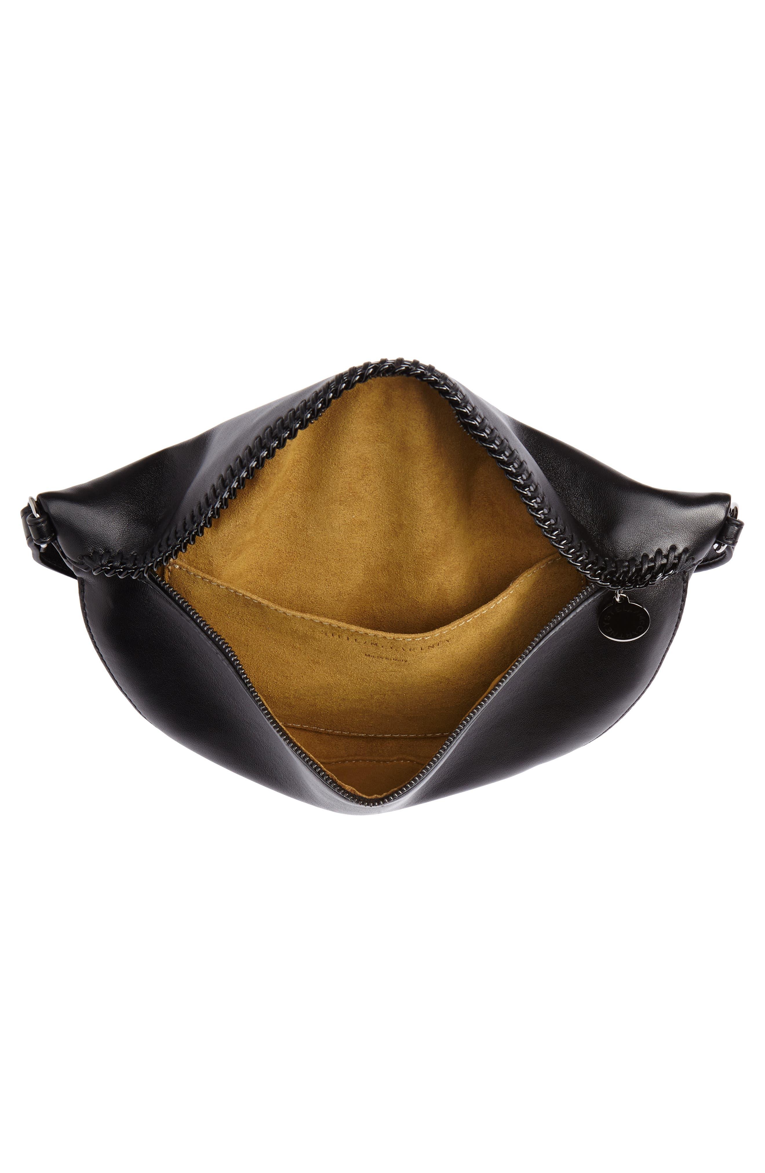 Chain Trim Bum Bag,                             Alternate thumbnail 5, color,                             BLACK