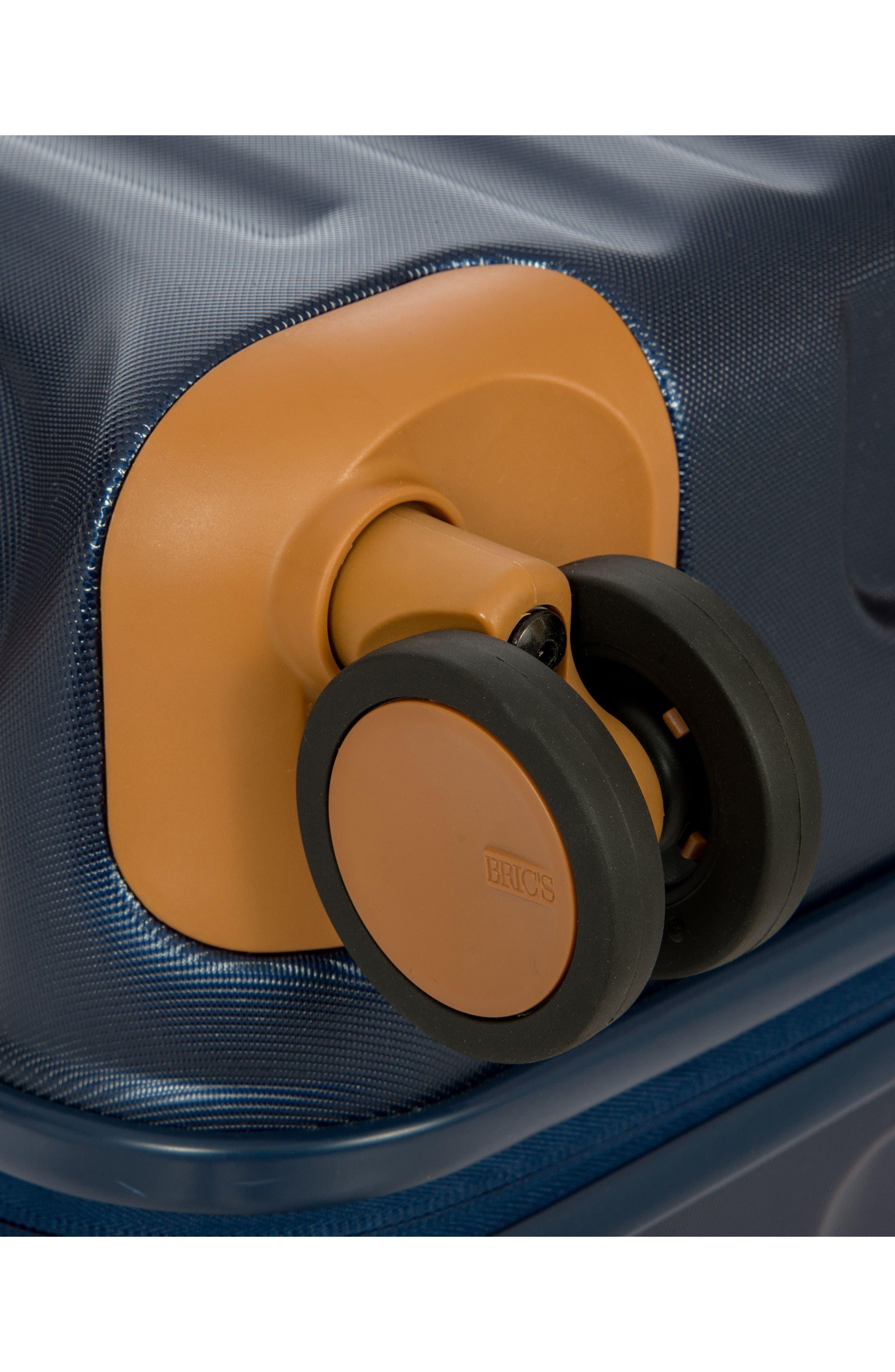 Capri 30-Inch Rolling Suitcase,                             Alternate thumbnail 6, color,                             MATTE BLUE