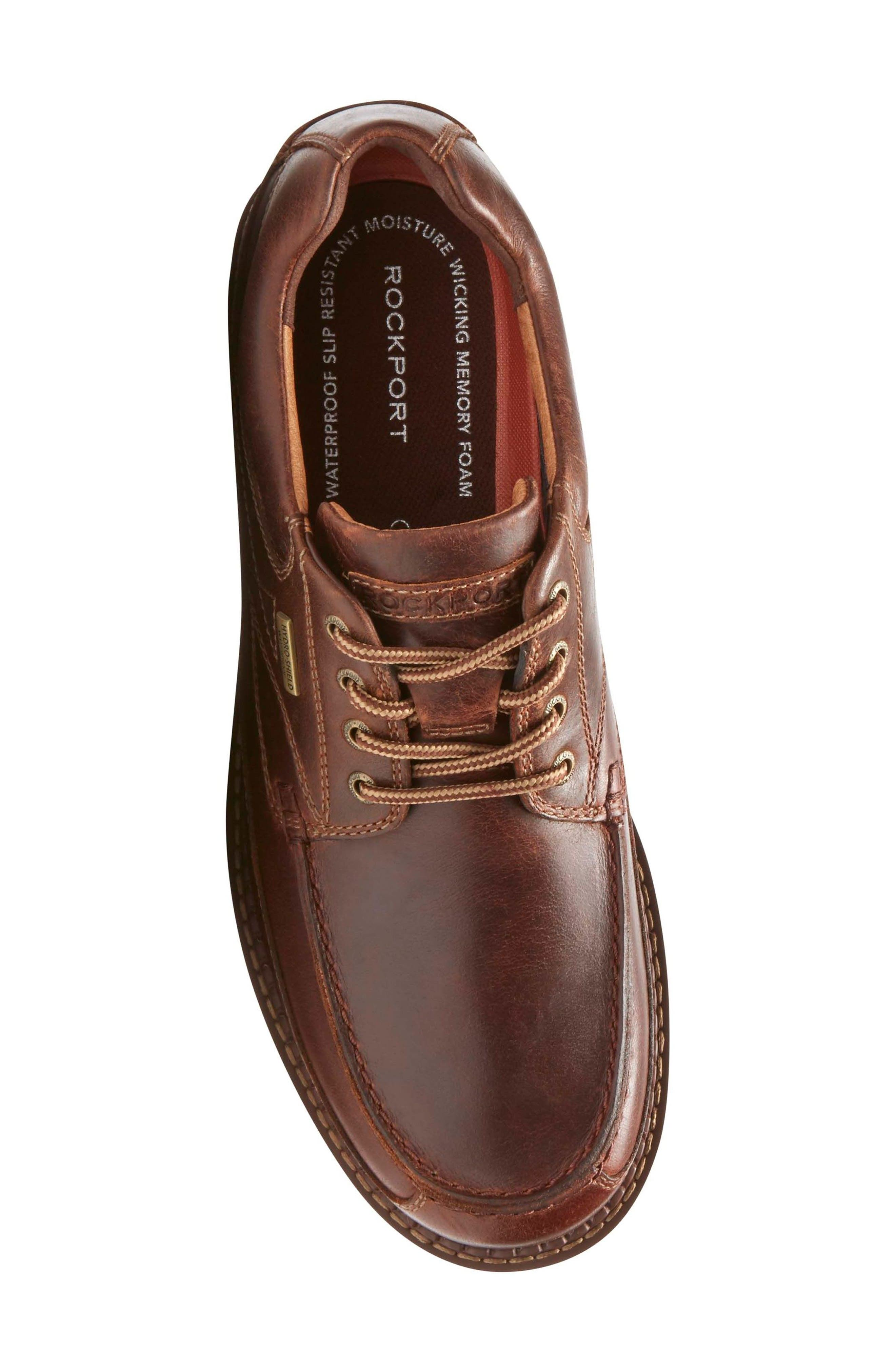 Centry Moc Toe Derby,                             Alternate thumbnail 5, color,                             BROWN LEATHER
