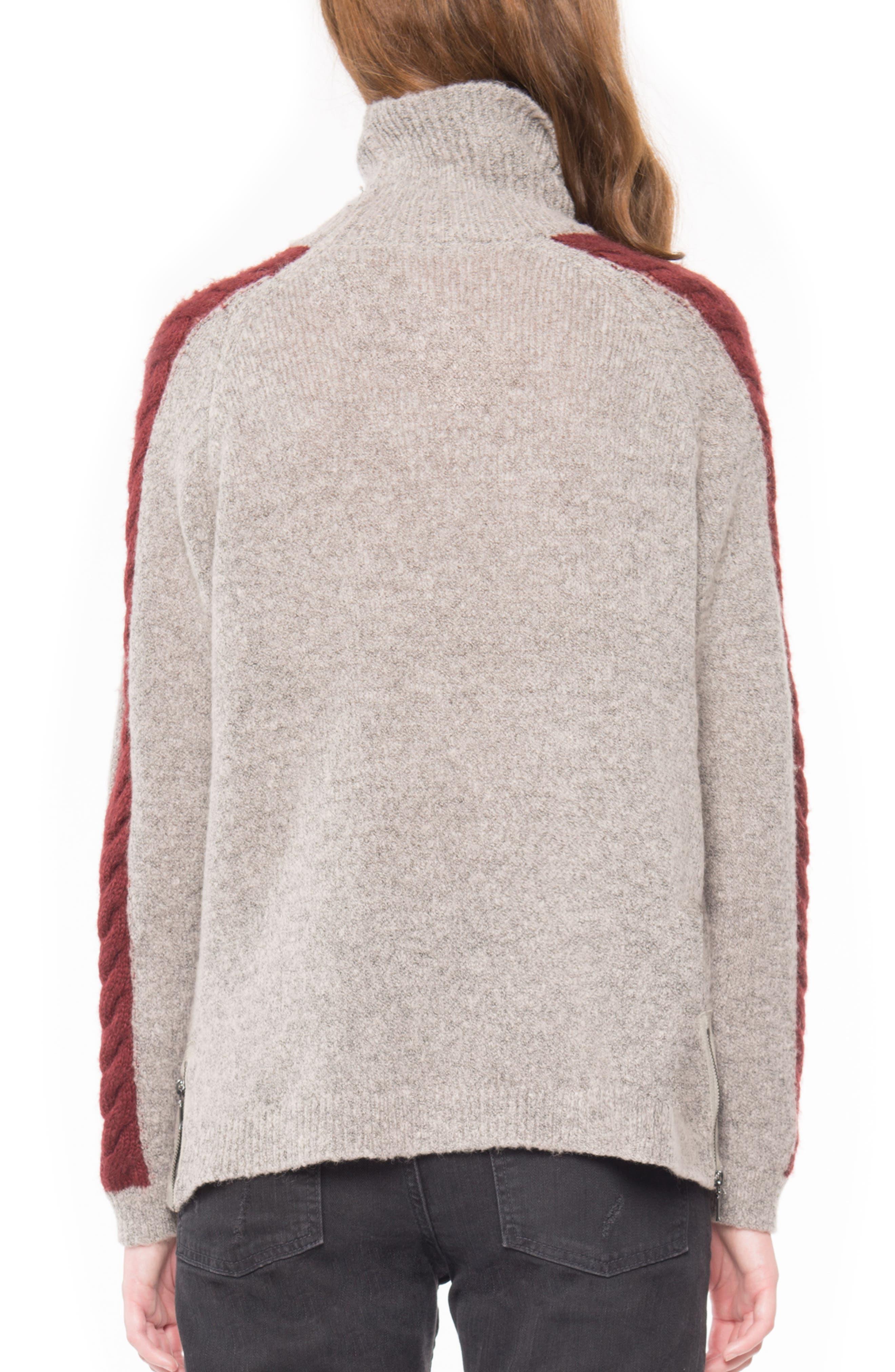 Cable Detail Turtleneck Sweater,                             Alternate thumbnail 2, color,                             213