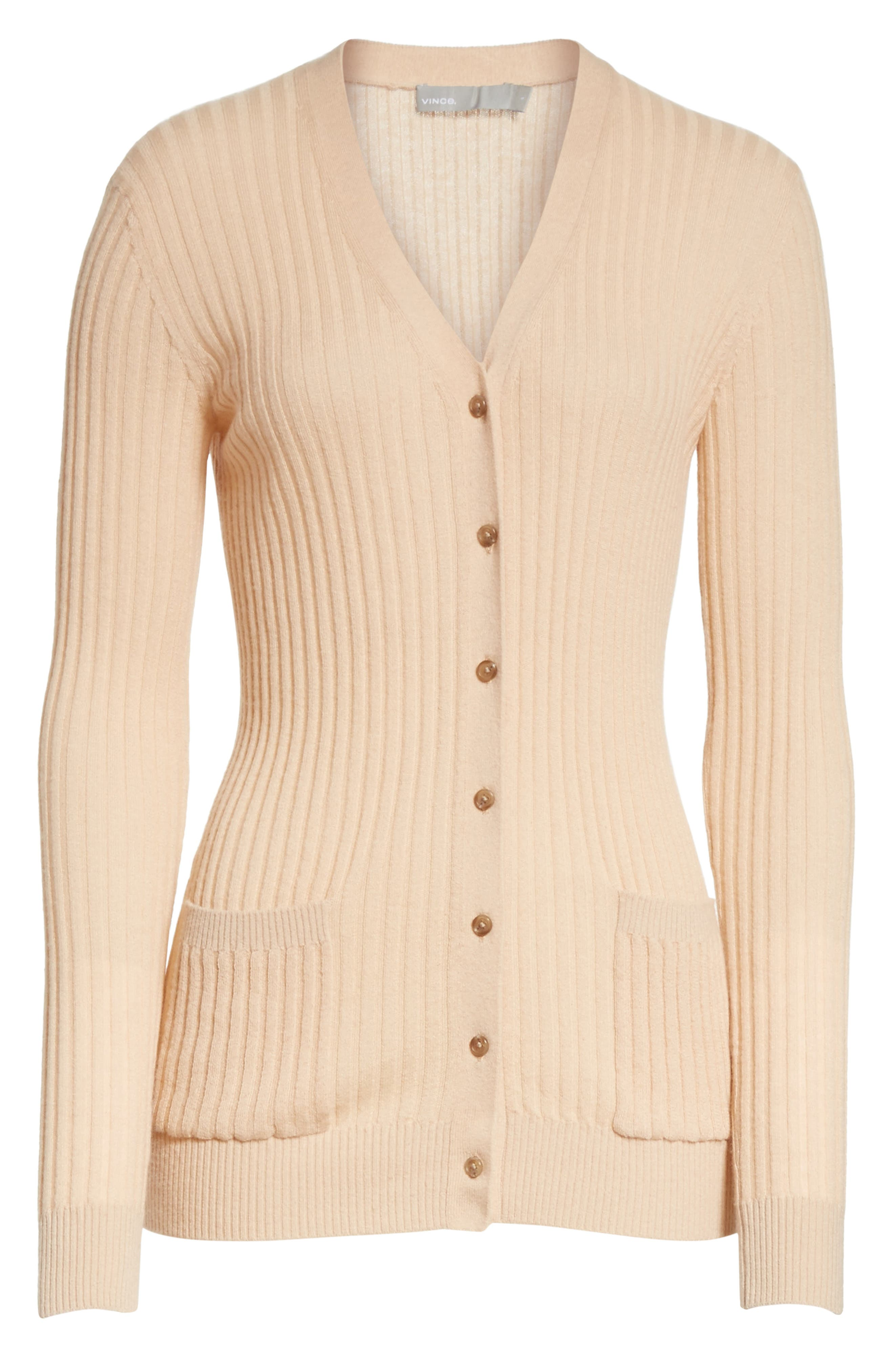 Skinny Ribbed Cashmere Cardigan,                             Alternate thumbnail 6, color,                             298