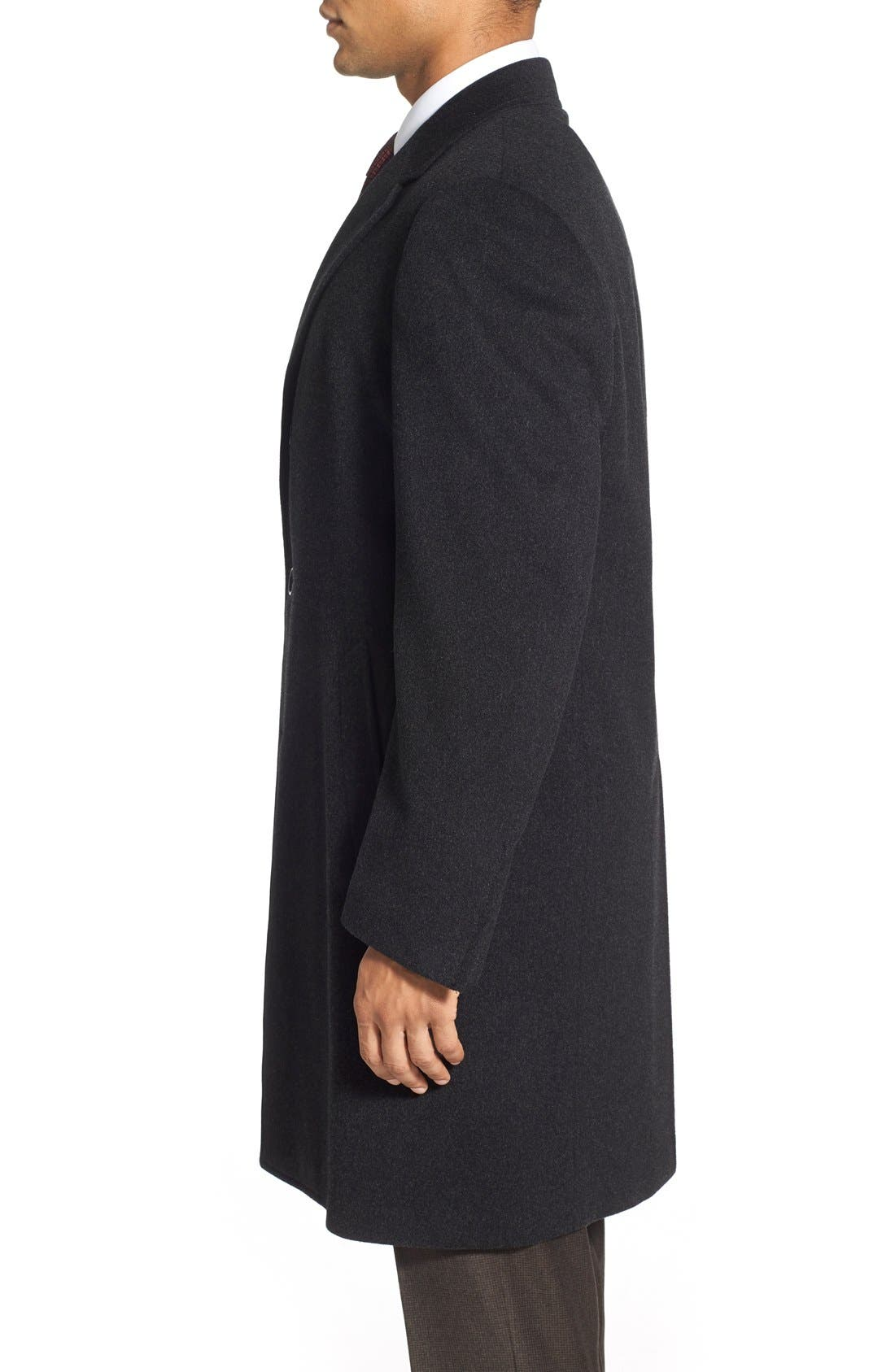 Classic Fit Wool & Cashmere Topcoat,                             Alternate thumbnail 5, color,                             020